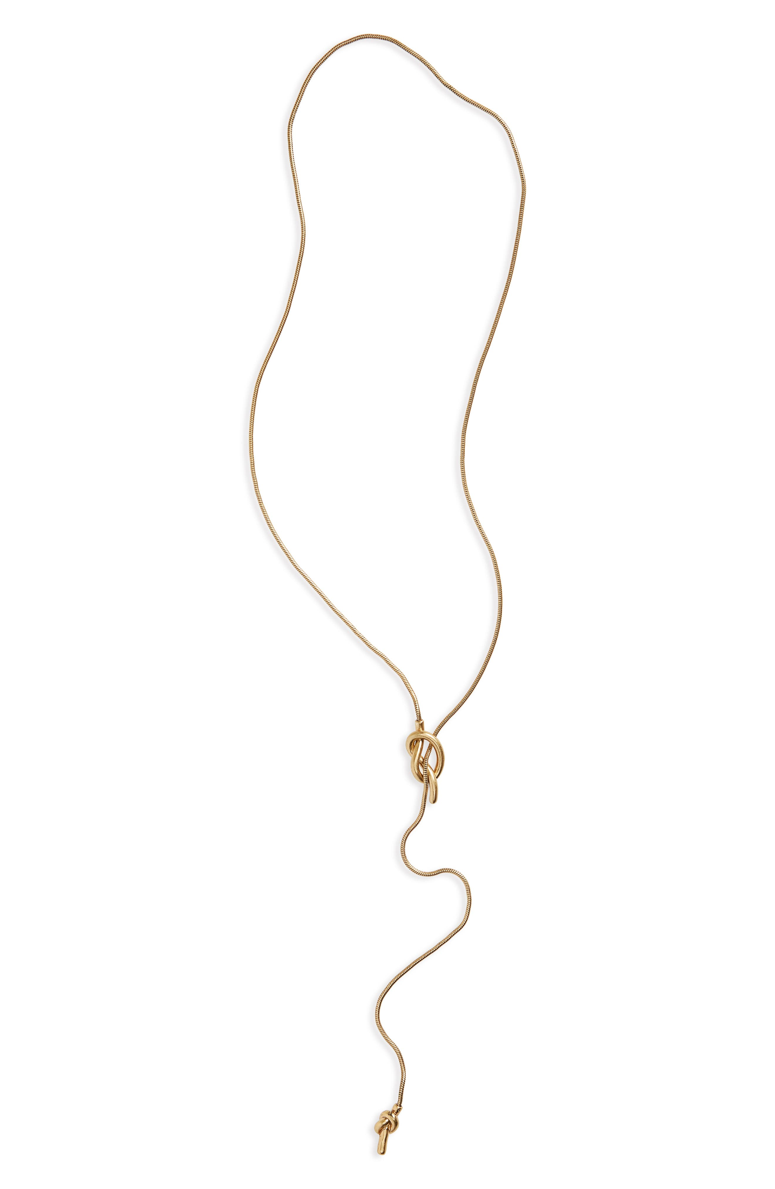 MADEWELL 'Knotshine' Necklace, Main, color, GOLD OX