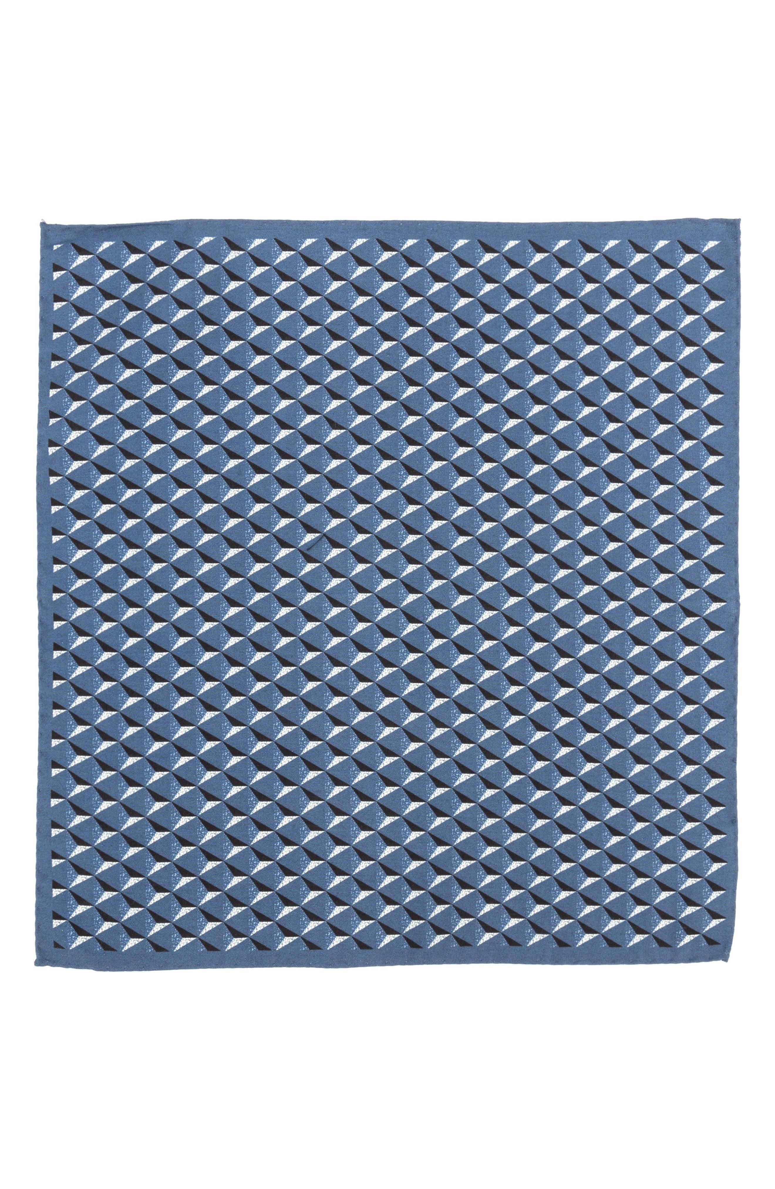 Geometric Silk Pocket Square,                             Alternate thumbnail 9, color,