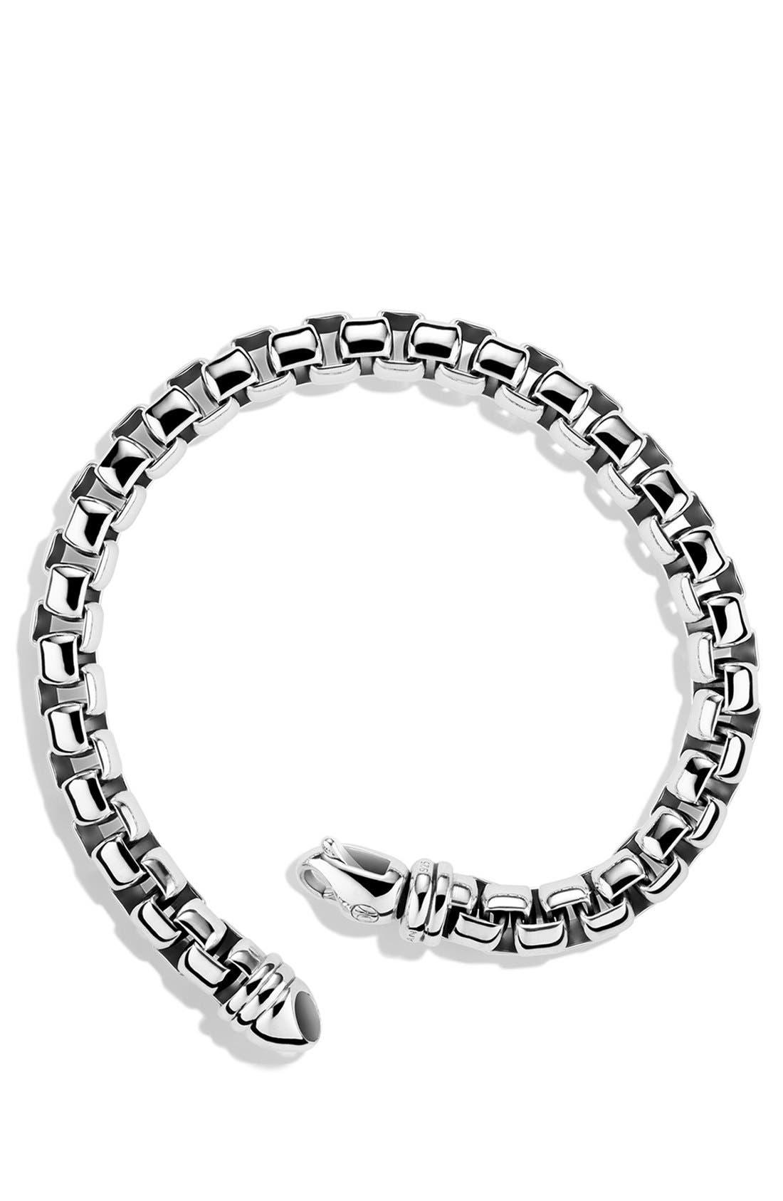 Extra-Large Box Chain Bracelet,                             Alternate thumbnail 2, color,                             SILVER