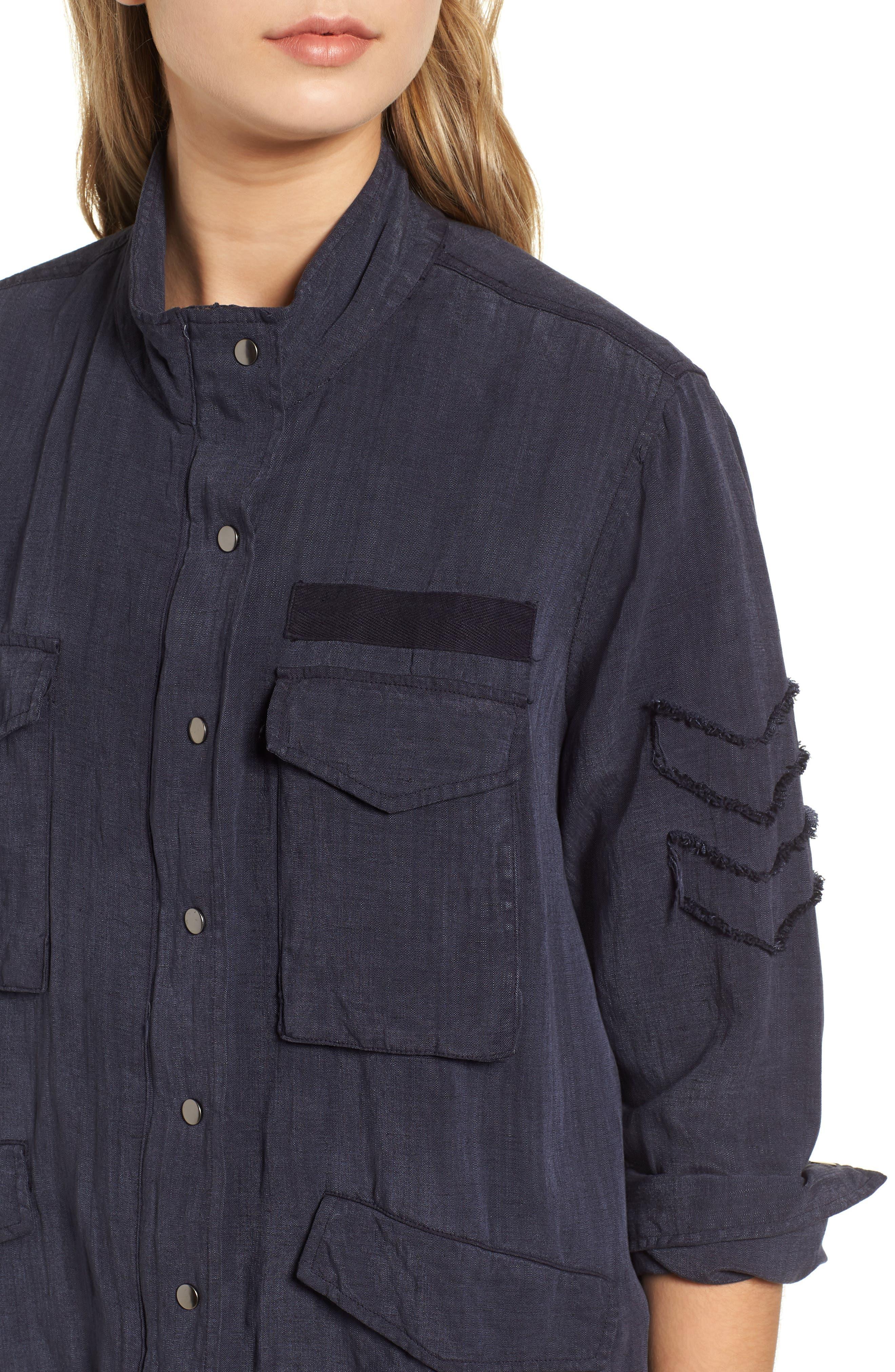 Halifax Drawstring Jacket,                             Alternate thumbnail 4, color,                             NAVY