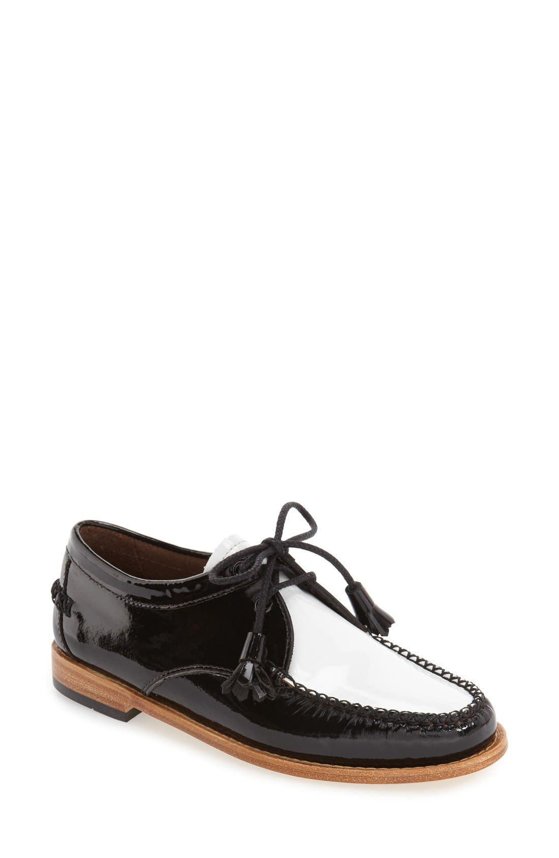 'Winnie' Leather Oxford,                             Main thumbnail 4, color,