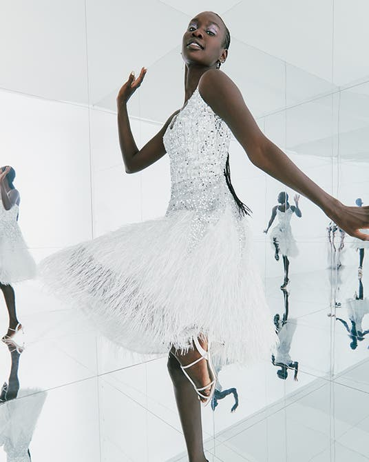 'Tis the season to sparkle: multiple holiday party-ready looks.