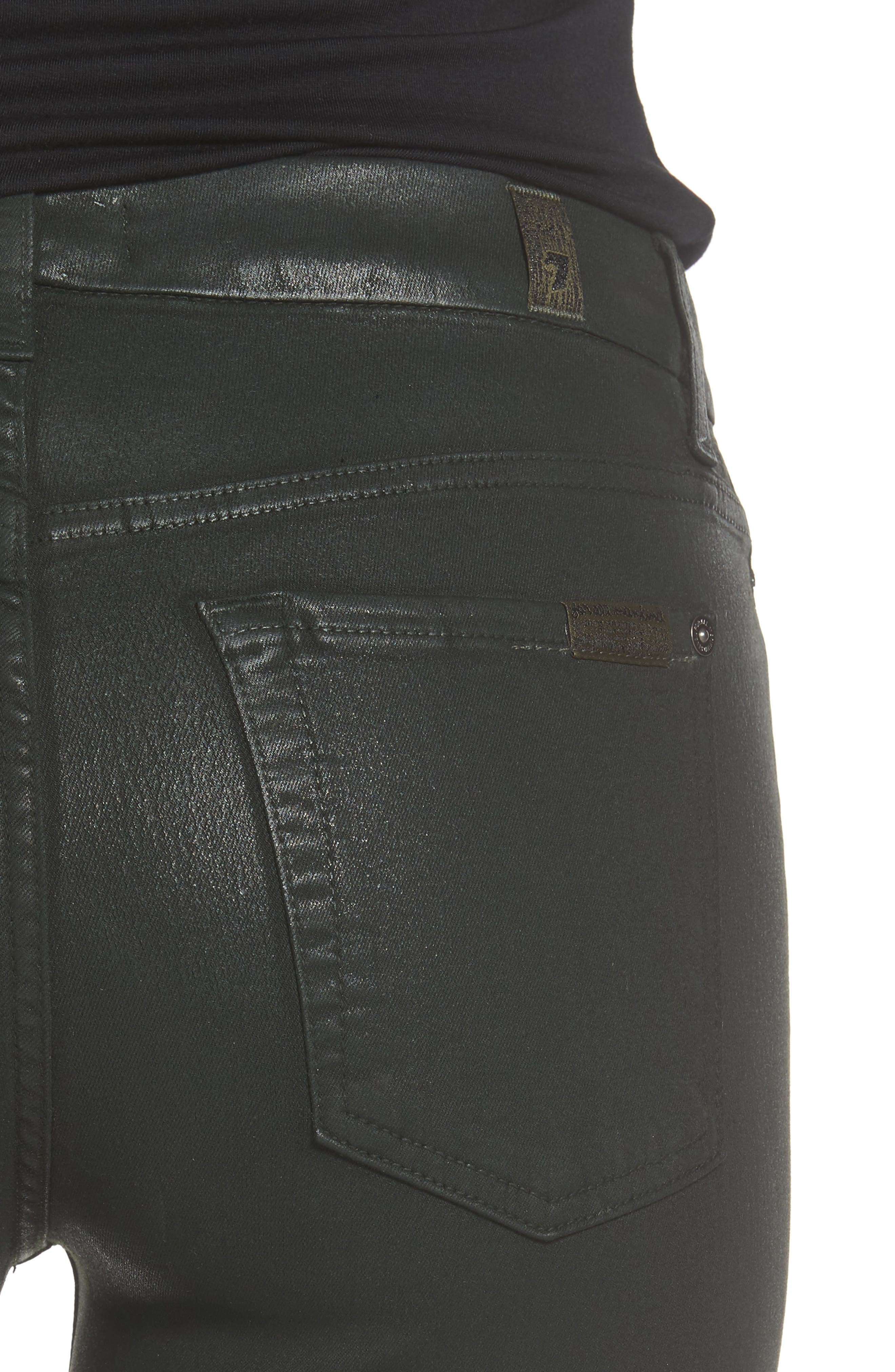 Coated Ankle Skinny Jeans,                             Alternate thumbnail 16, color,