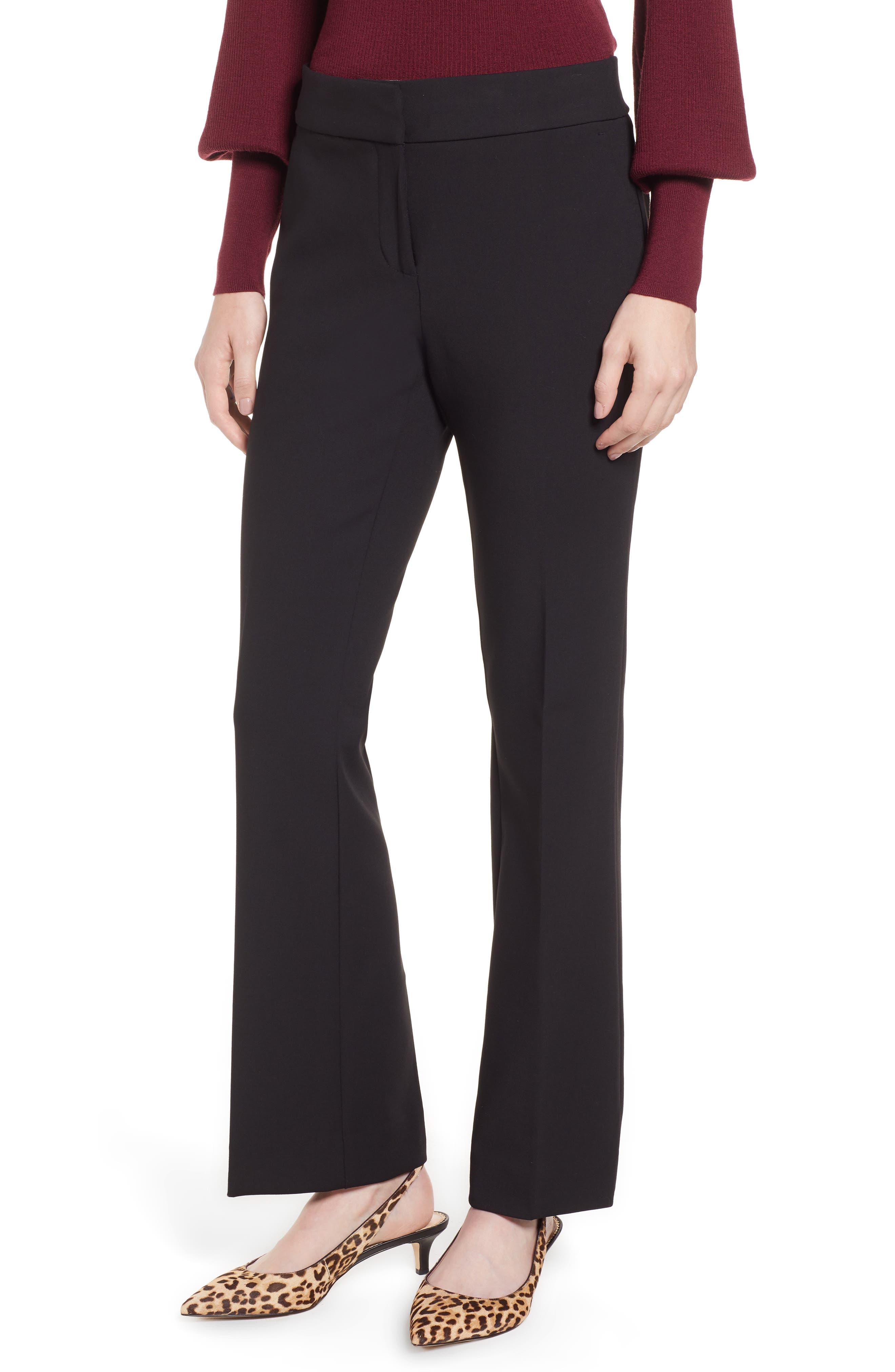 Edie Full Length Trouser in Four-Season Stretch,                             Main thumbnail 1, color,                             001