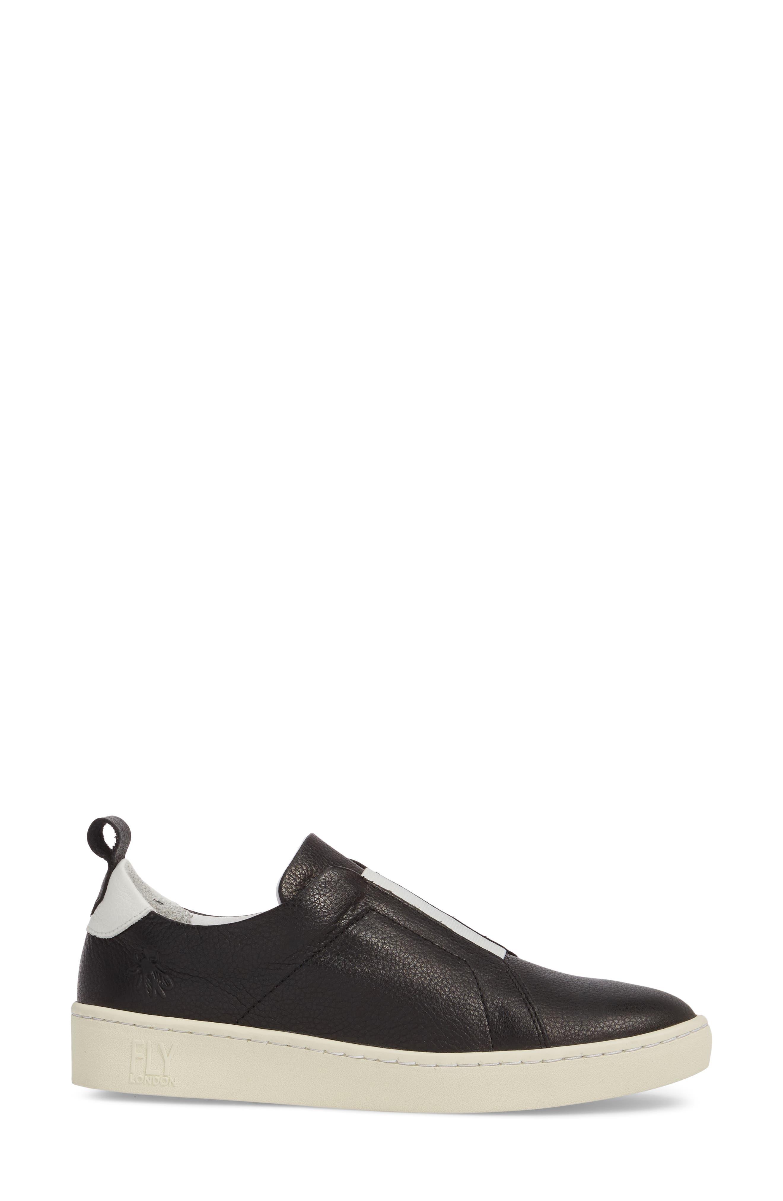 Mutt Slip-On Sneaker,                             Alternate thumbnail 3, color,                             BLACK BRITO LEATHER