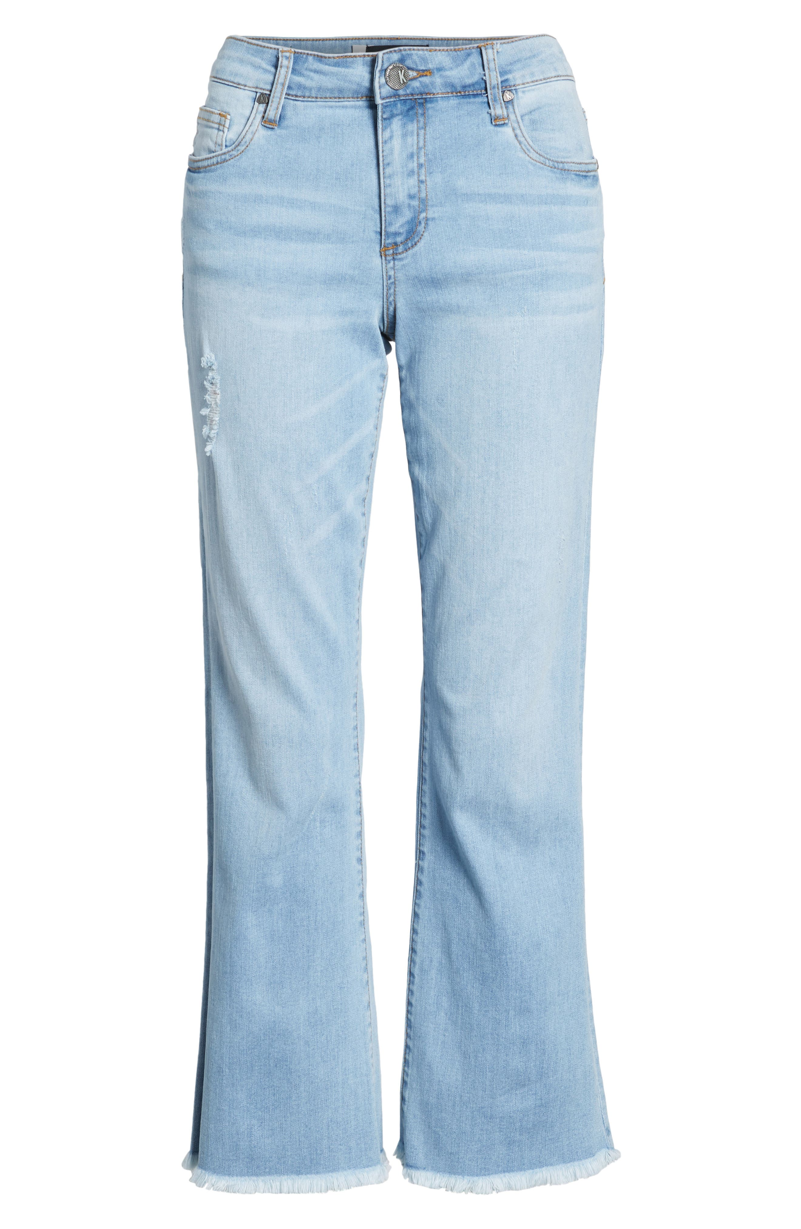 KUT Kollection Gidget Cutoff Denim Shorts,                             Alternate thumbnail 6, color,                             400