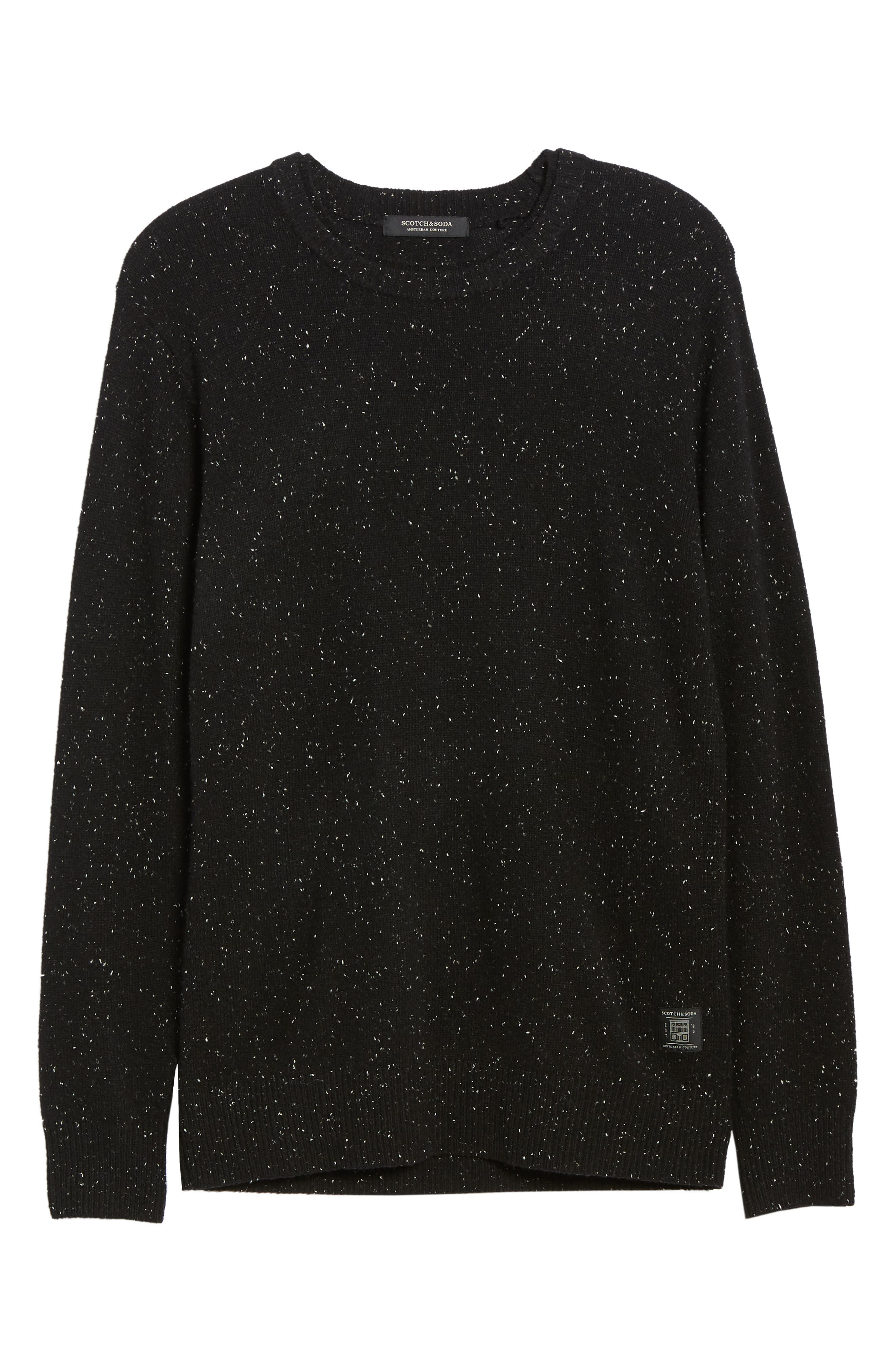 Nepped Wool Blend Sweater,                             Alternate thumbnail 6, color,                             COMBO B