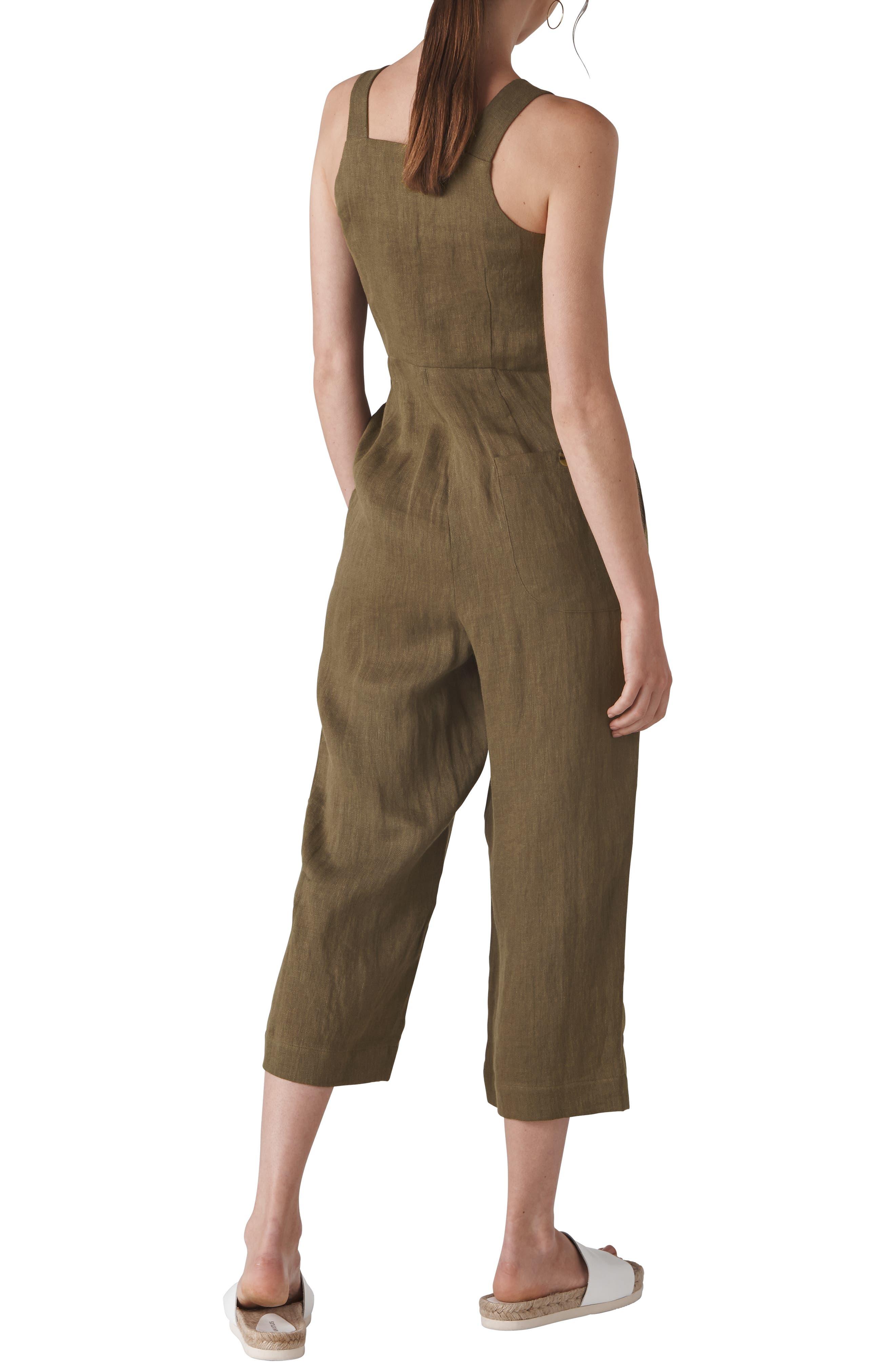Liza Linen Button Jumpsuit,                             Alternate thumbnail 2, color,                             250