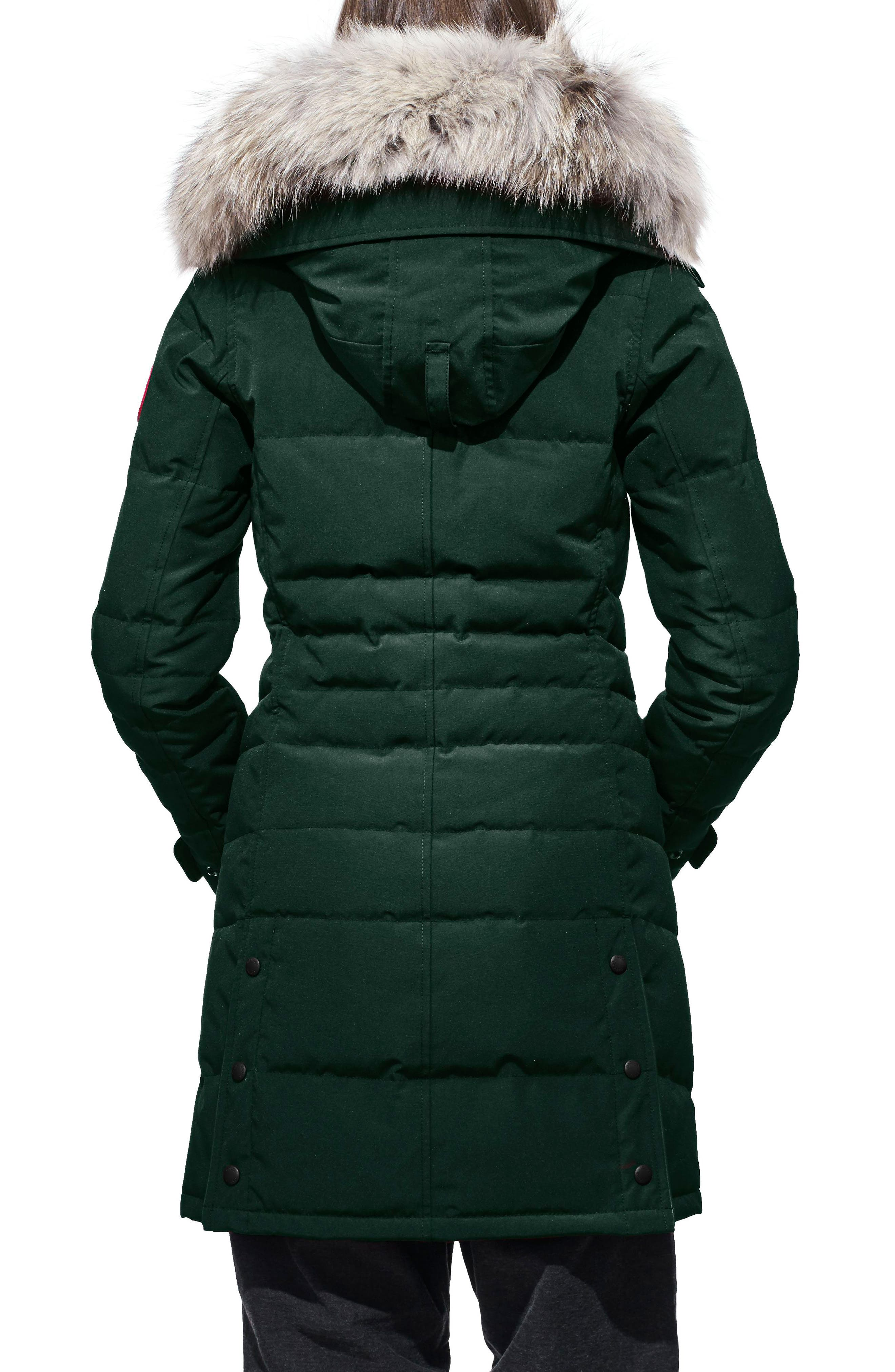 'Lorette' Hooded Down Parka with Genuine Coyote Fur Trim,                             Alternate thumbnail 2, color,                             026