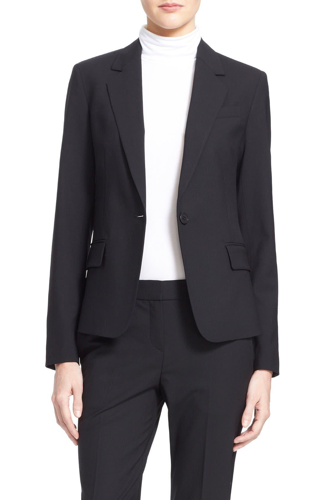 'Gabe' Stretch Wool Blazer,                         Main,                         color, BLACK