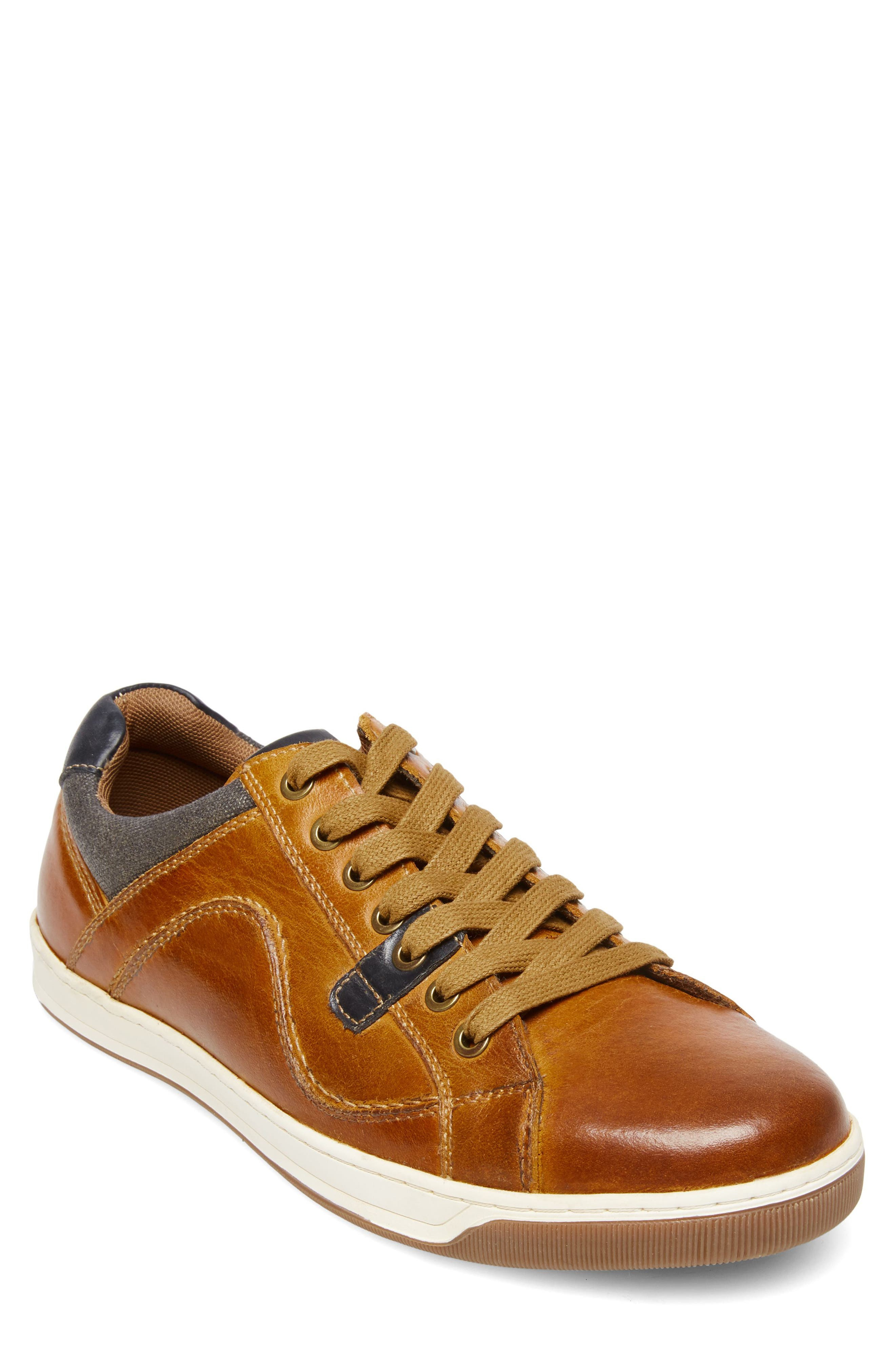Chater Low Top Sneaker,                         Main,                         color, RUST LEATHER