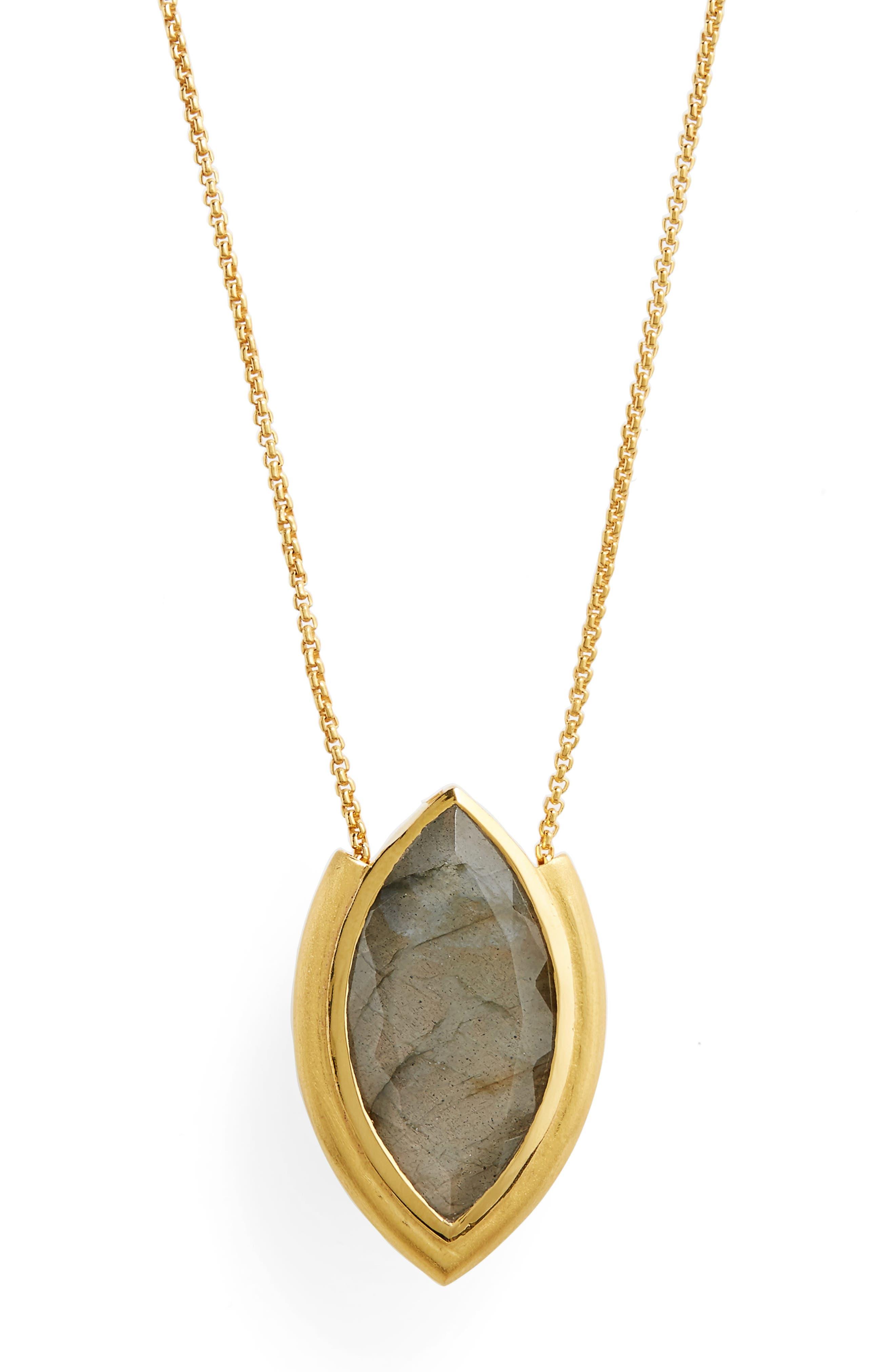 Lotus Pendant Necklace,                             Alternate thumbnail 3, color,