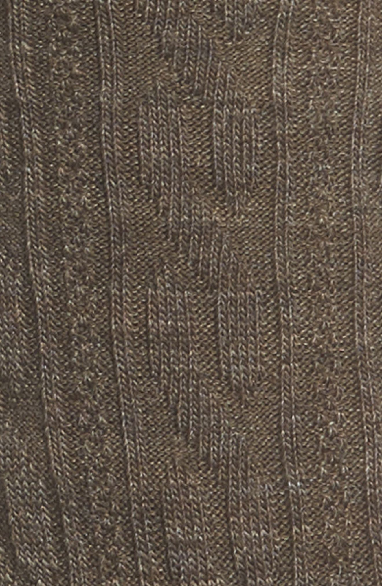 'Cable II' Crew Socks,                             Alternate thumbnail 2, color,                             TAUPE