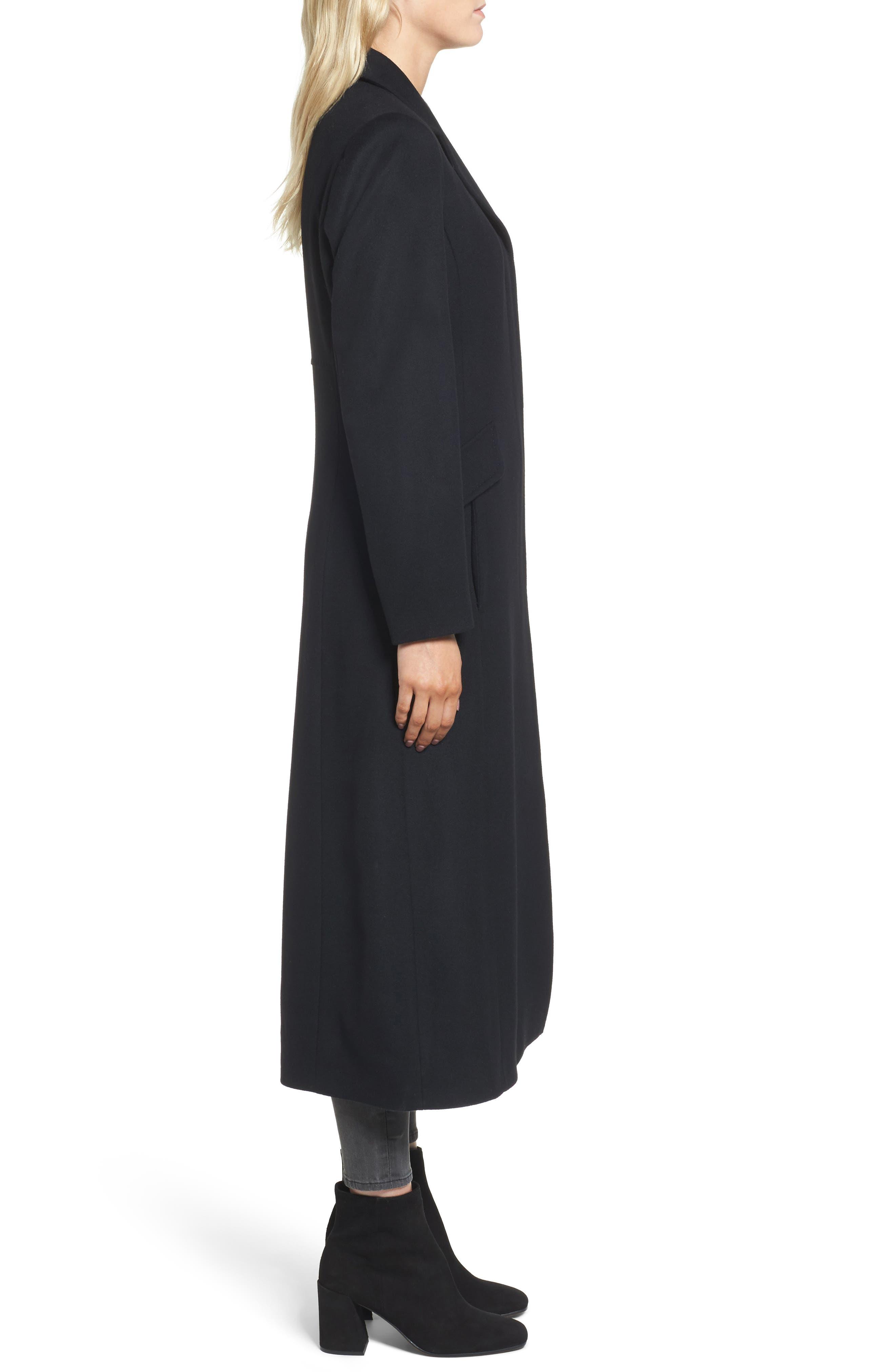 Emi Wool Blend Coat,                             Alternate thumbnail 3, color,                             001