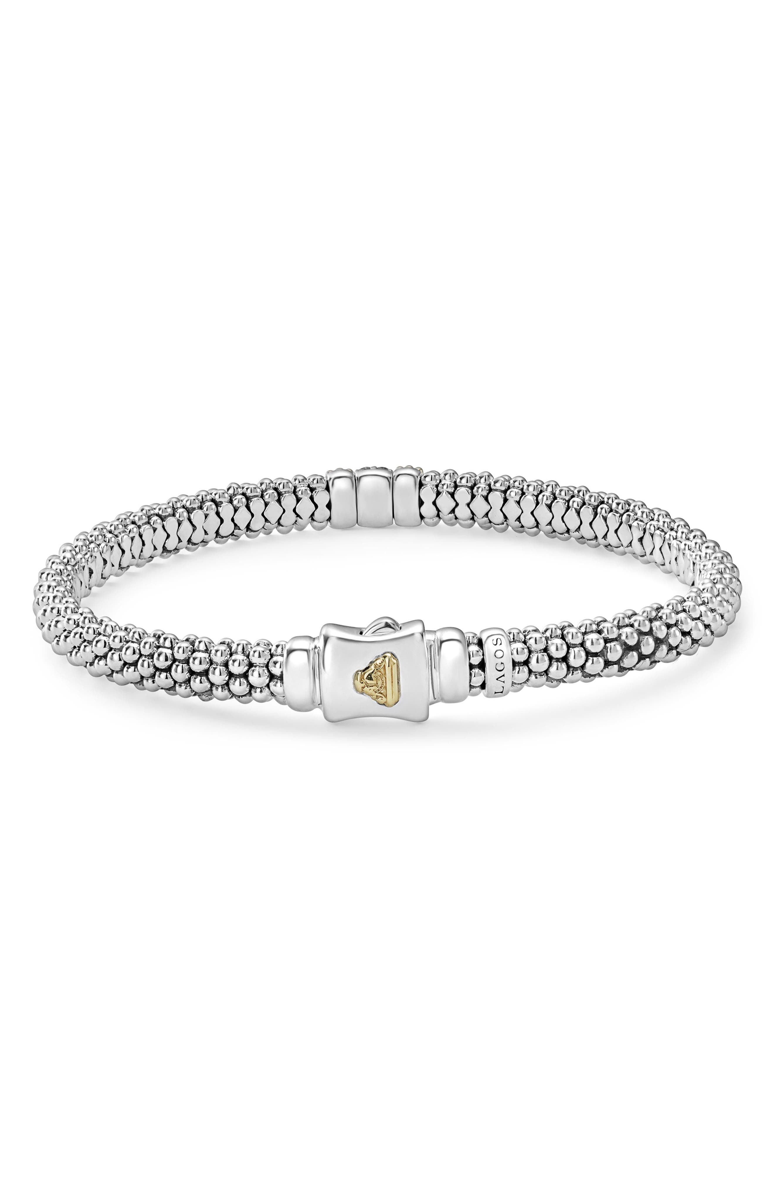 Diamond Lux Pavé Station 6mm Bracelet,                             Alternate thumbnail 2, color,                             DIAMOND