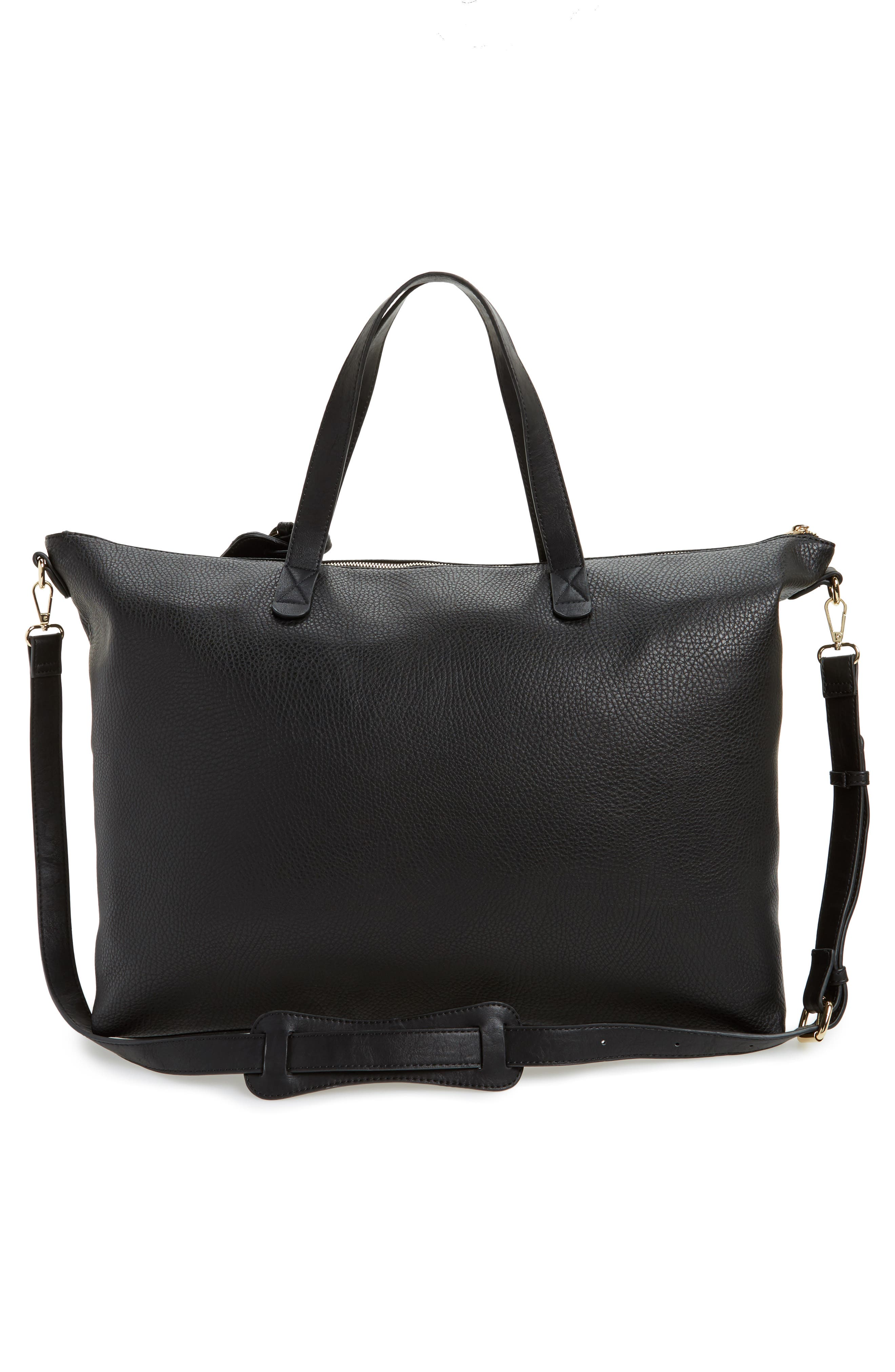 Candice Oversize Travel Tote,                             Alternate thumbnail 3, color,                             NEW BLACK