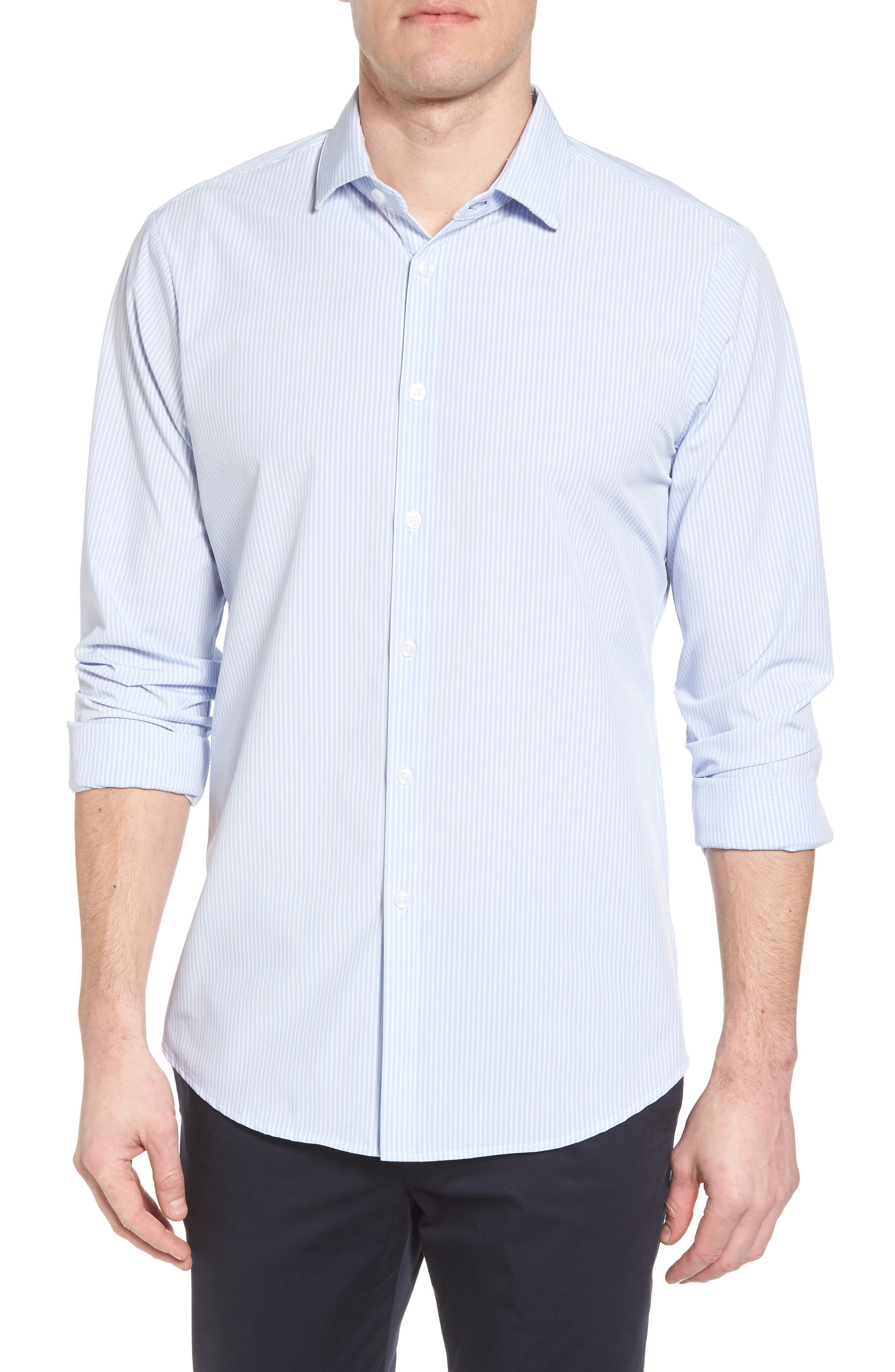 Caldwell Slim Fit Stripe Sport Shirt,                             Main thumbnail 1, color,                             455