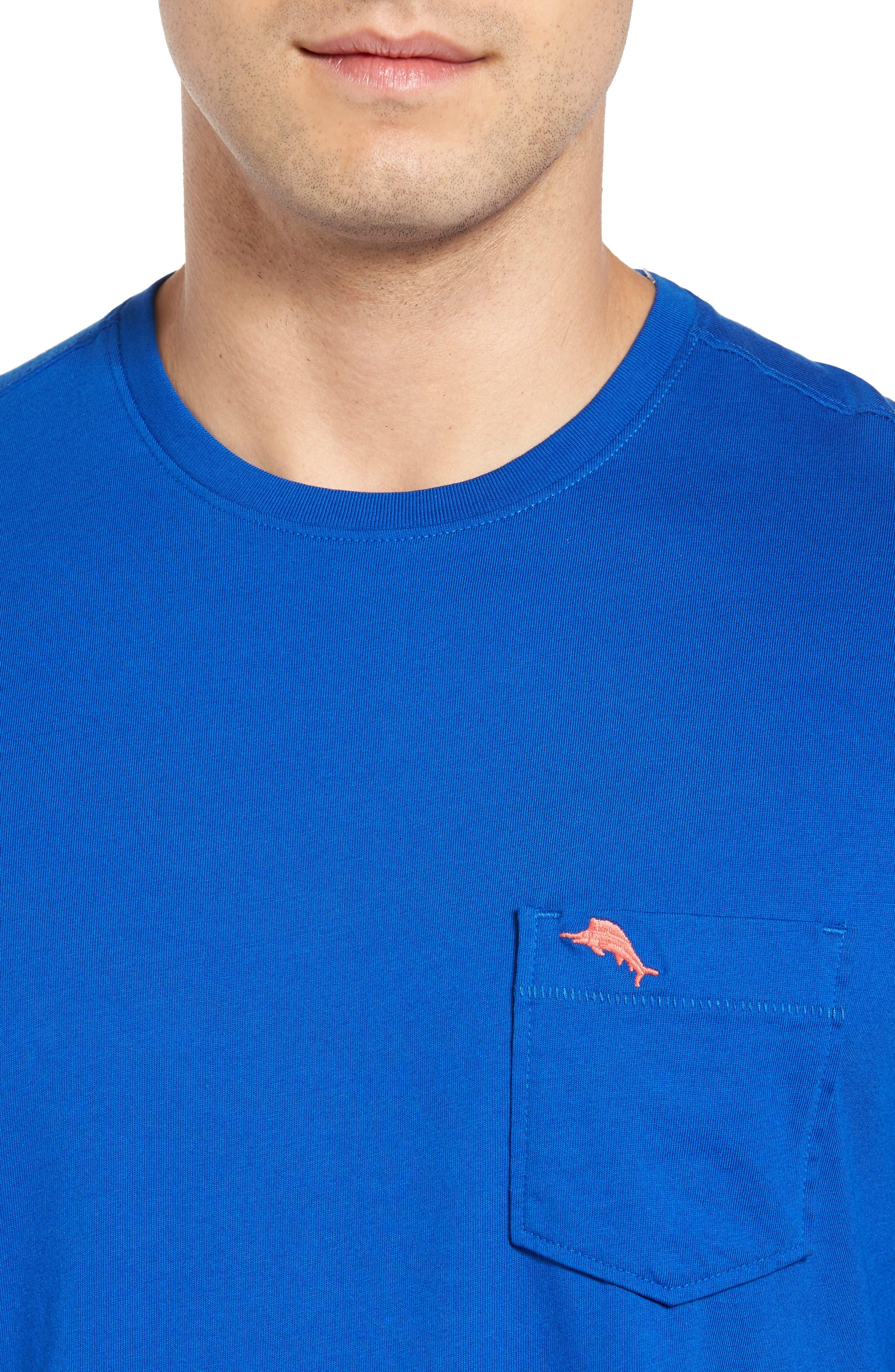 New Bali Sky Pima Cotton Pocket T-Shirt,                             Alternate thumbnail 109, color,