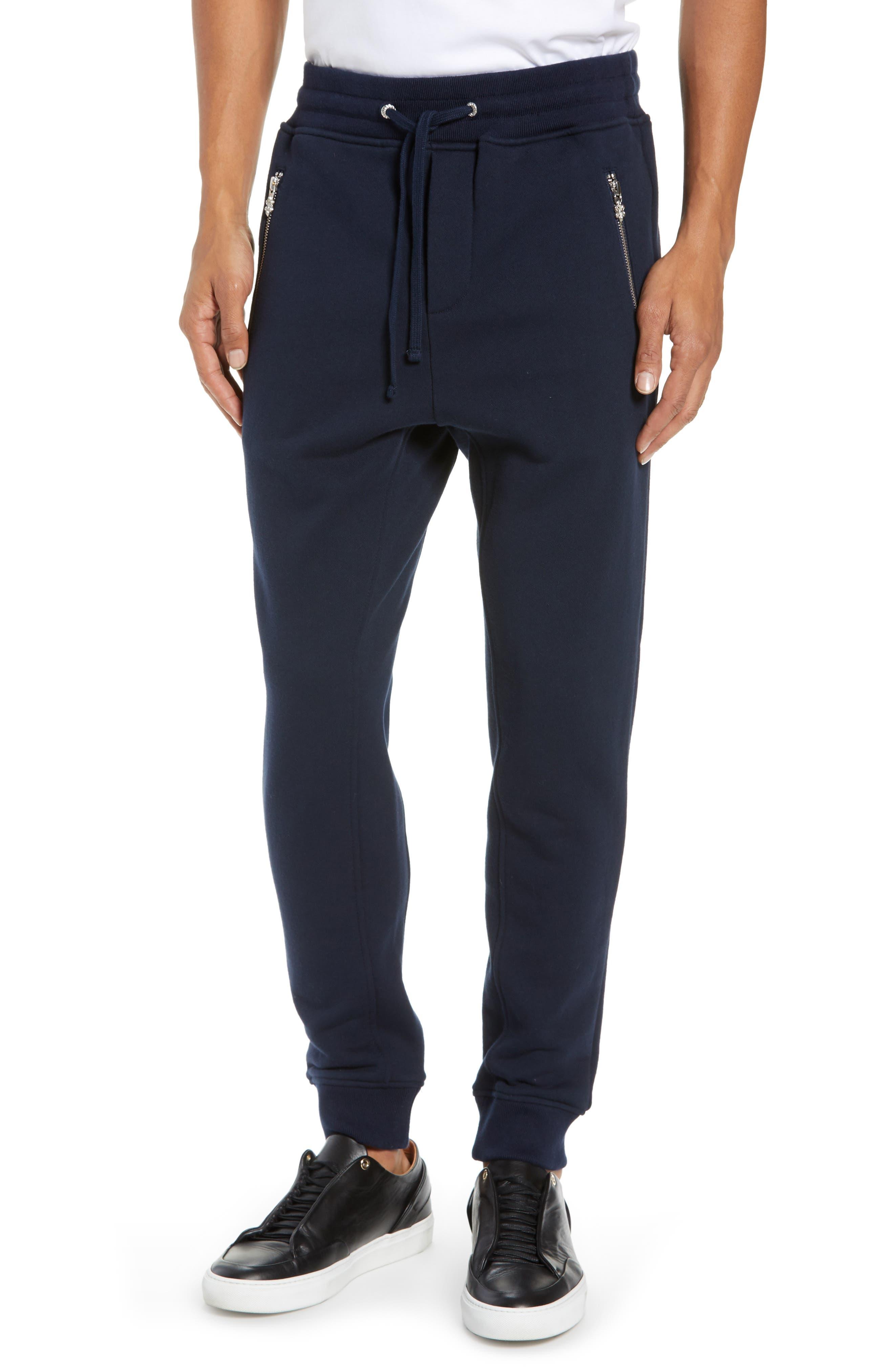 Slim Fit Jogger Pants,                             Main thumbnail 1, color,                             NAVY