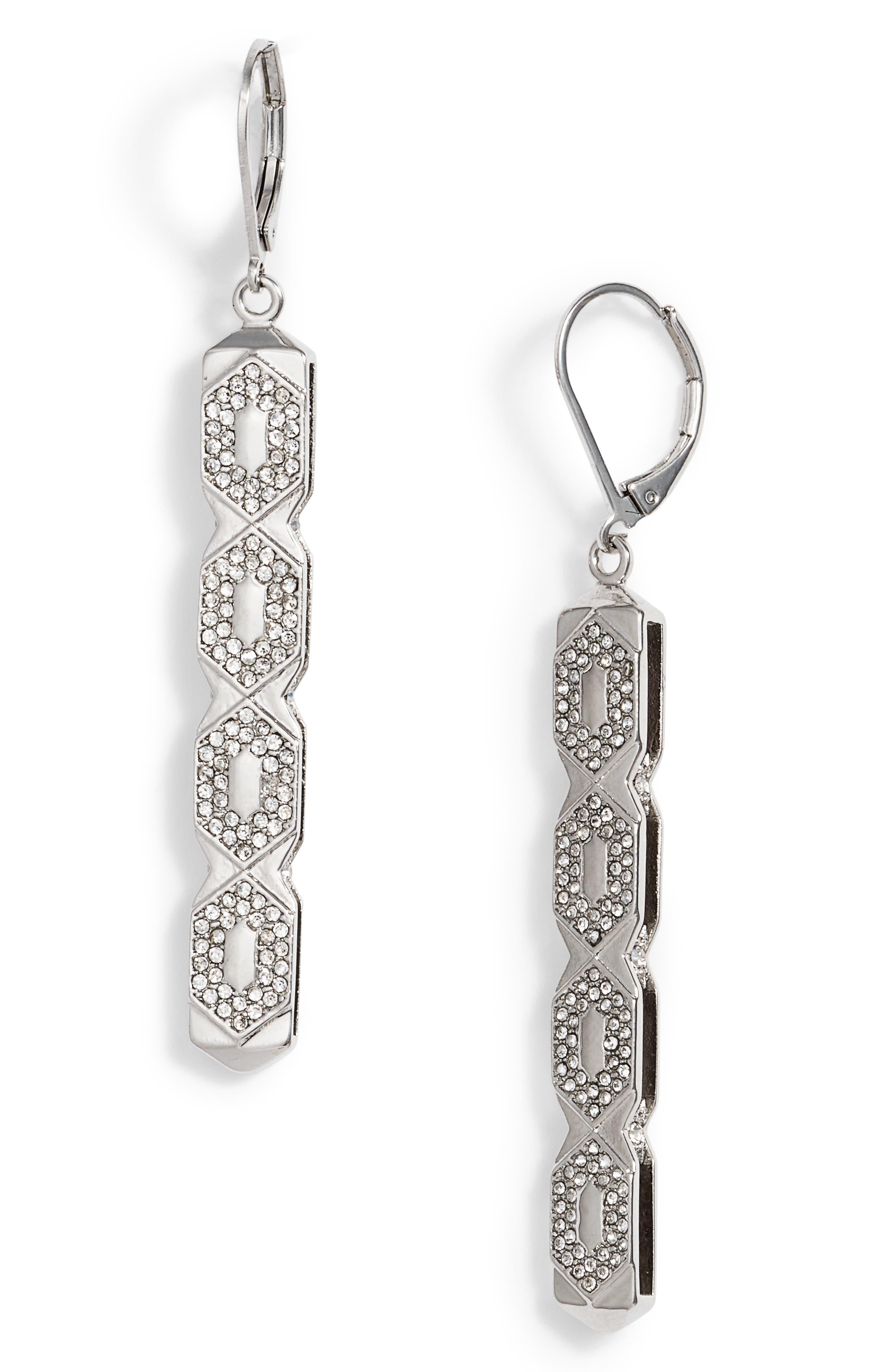 Openwork Linear Drop Earrings,                         Main,                         color,