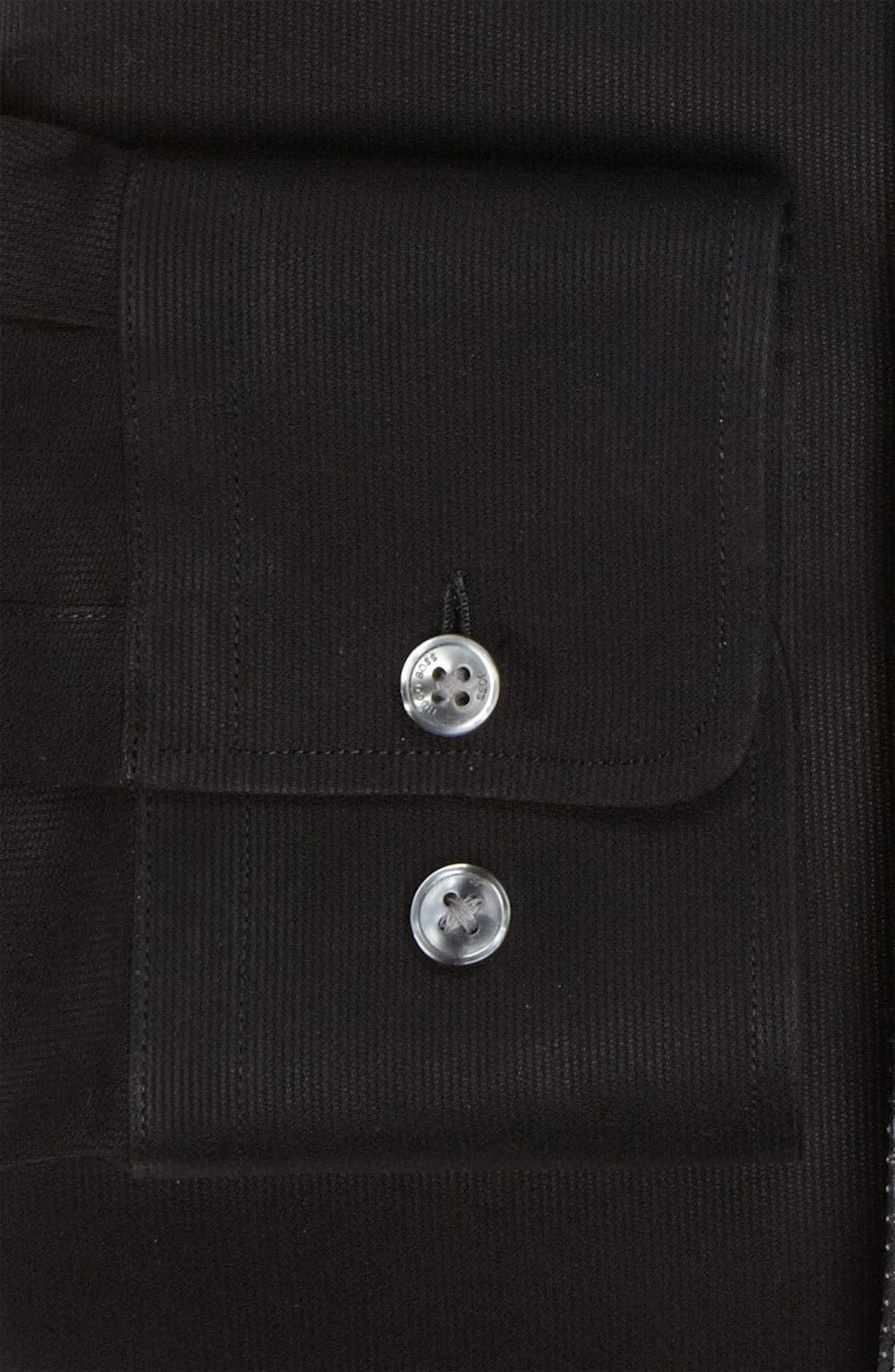 BOSS,                             HUGO BOSS 'Miles' Sharp Fit Tonal Stripe Cotton Dress Shirt,                             Alternate thumbnail 2, color,                             001