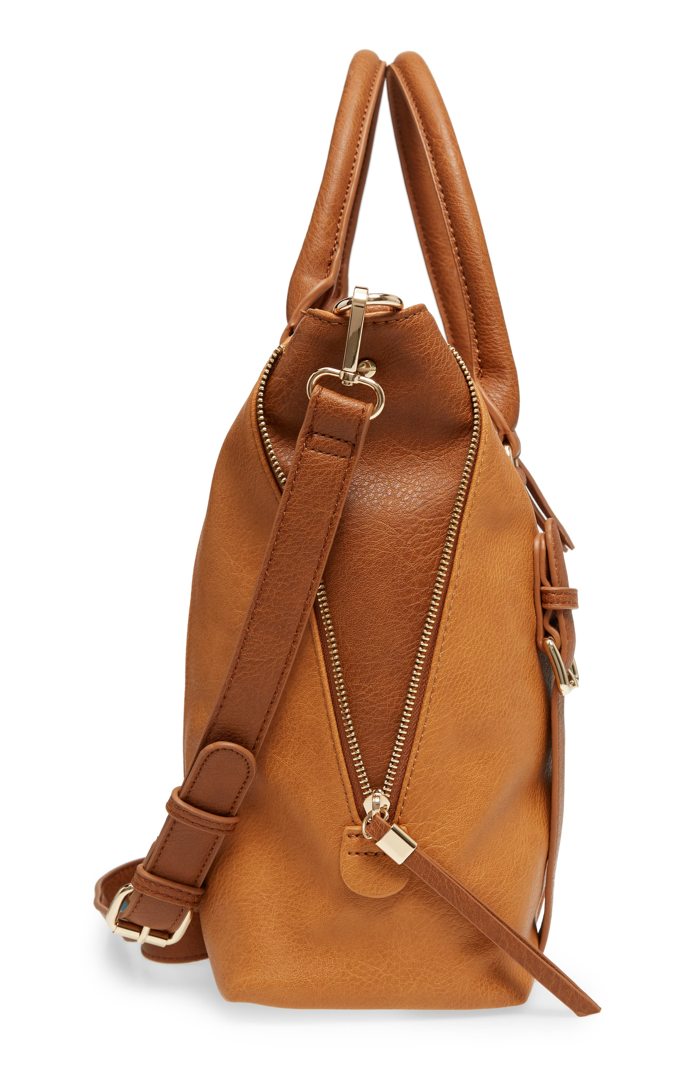 Buckle Faux Leather Tote,                             Alternate thumbnail 5, color,                             234