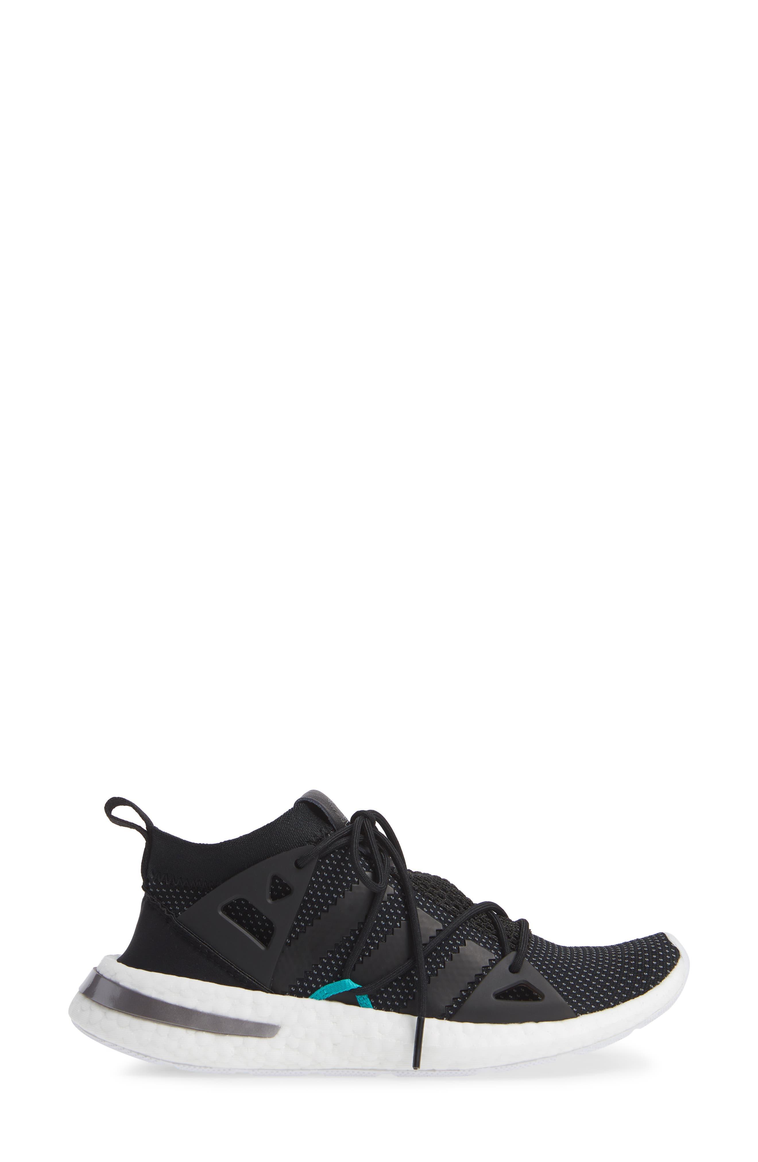 Arkyn Sneaker,                             Alternate thumbnail 3, color,                             BLACK/ BLACK/ WHITE