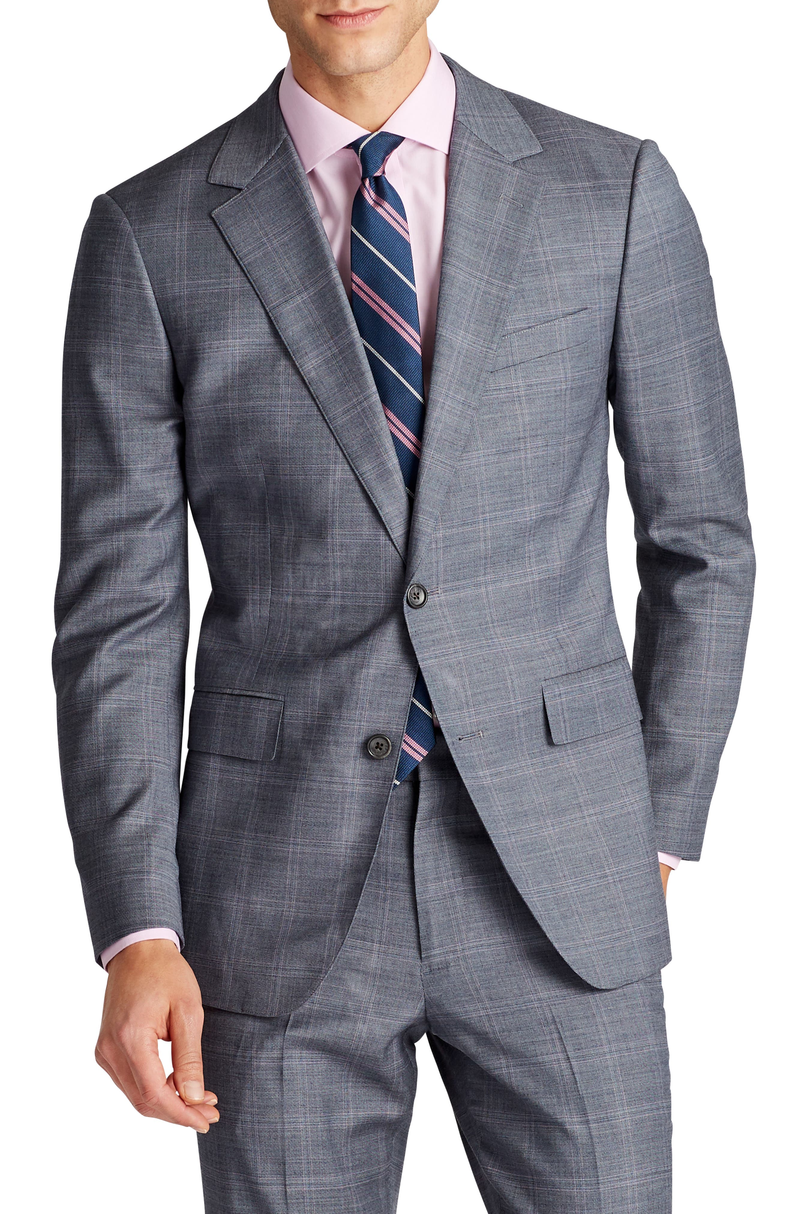 Jetsetter Slim Fit Stretch Plaid Wool Sport Coat,                         Main,                         color, 020