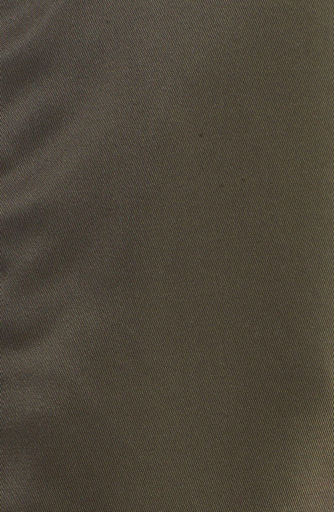 Flight Water Resistant Satin Bomber Jacket,                             Alternate thumbnail 15, color,