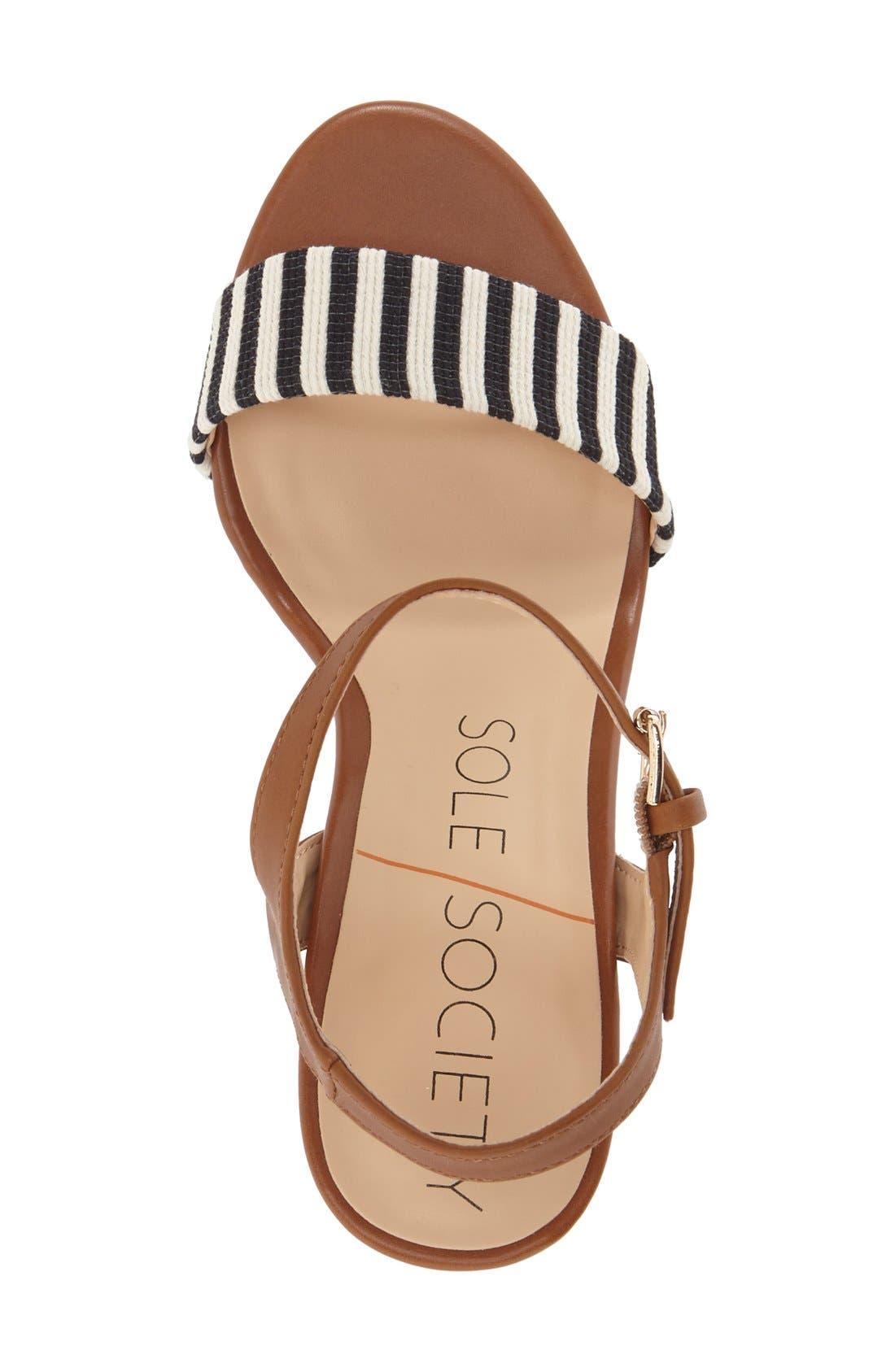 'Linny' Ankle Strap Sandal,                             Alternate thumbnail 6, color,