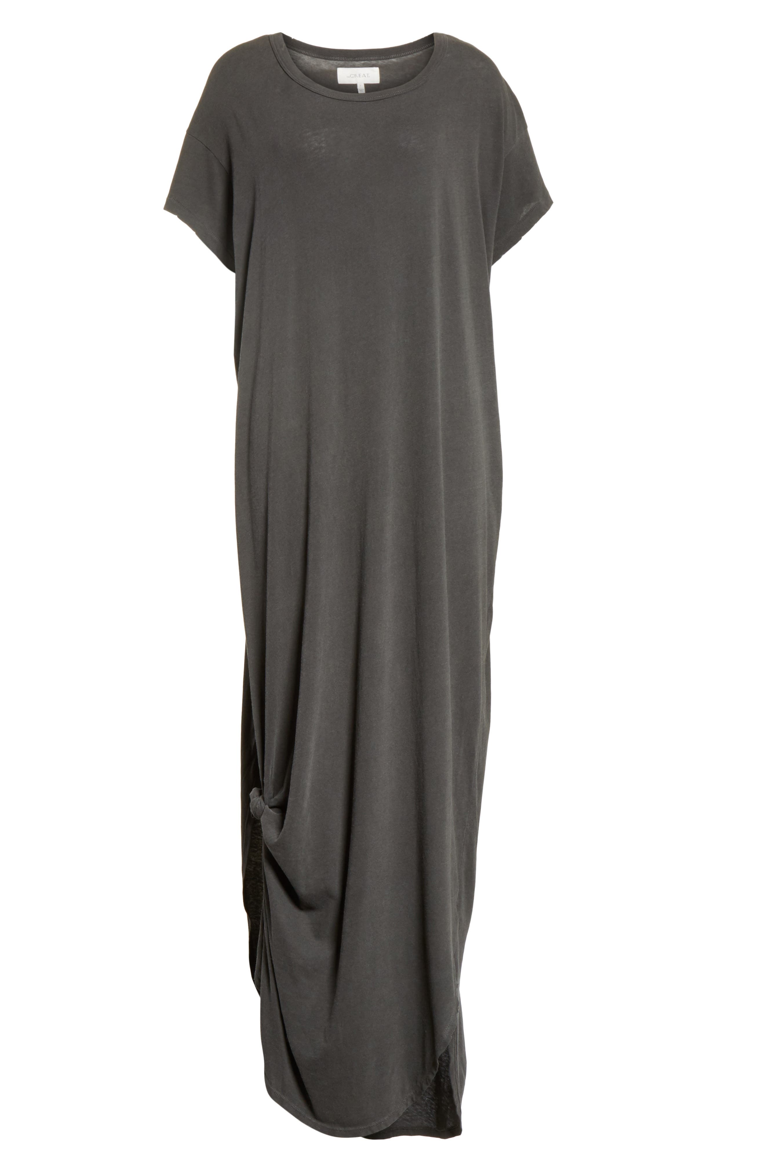 The Knotted Tee Dress,                             Alternate thumbnail 7, color,                             001