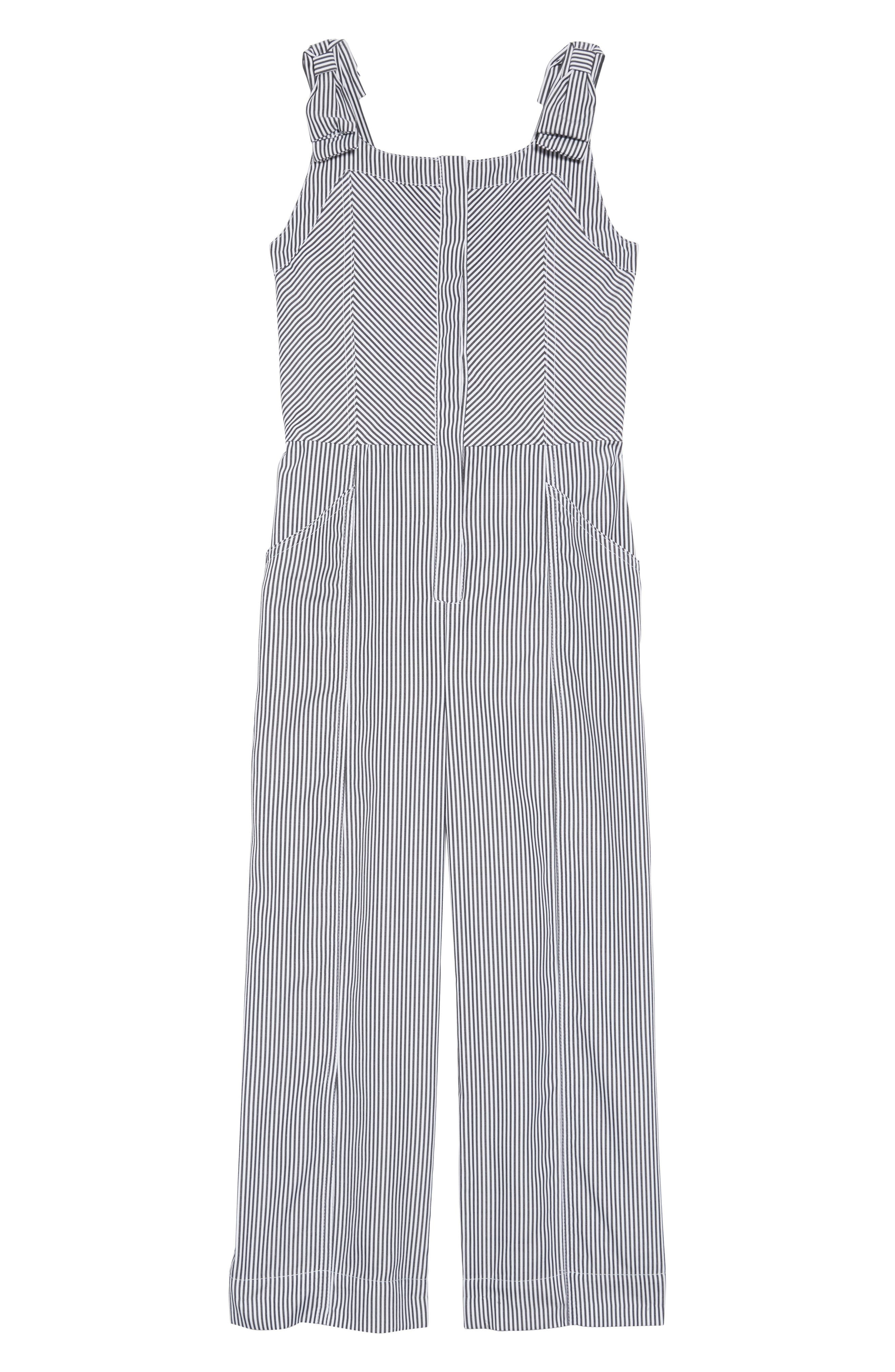 Girls Habitual Whitney Stripe Jumpsuit Size 14  Grey