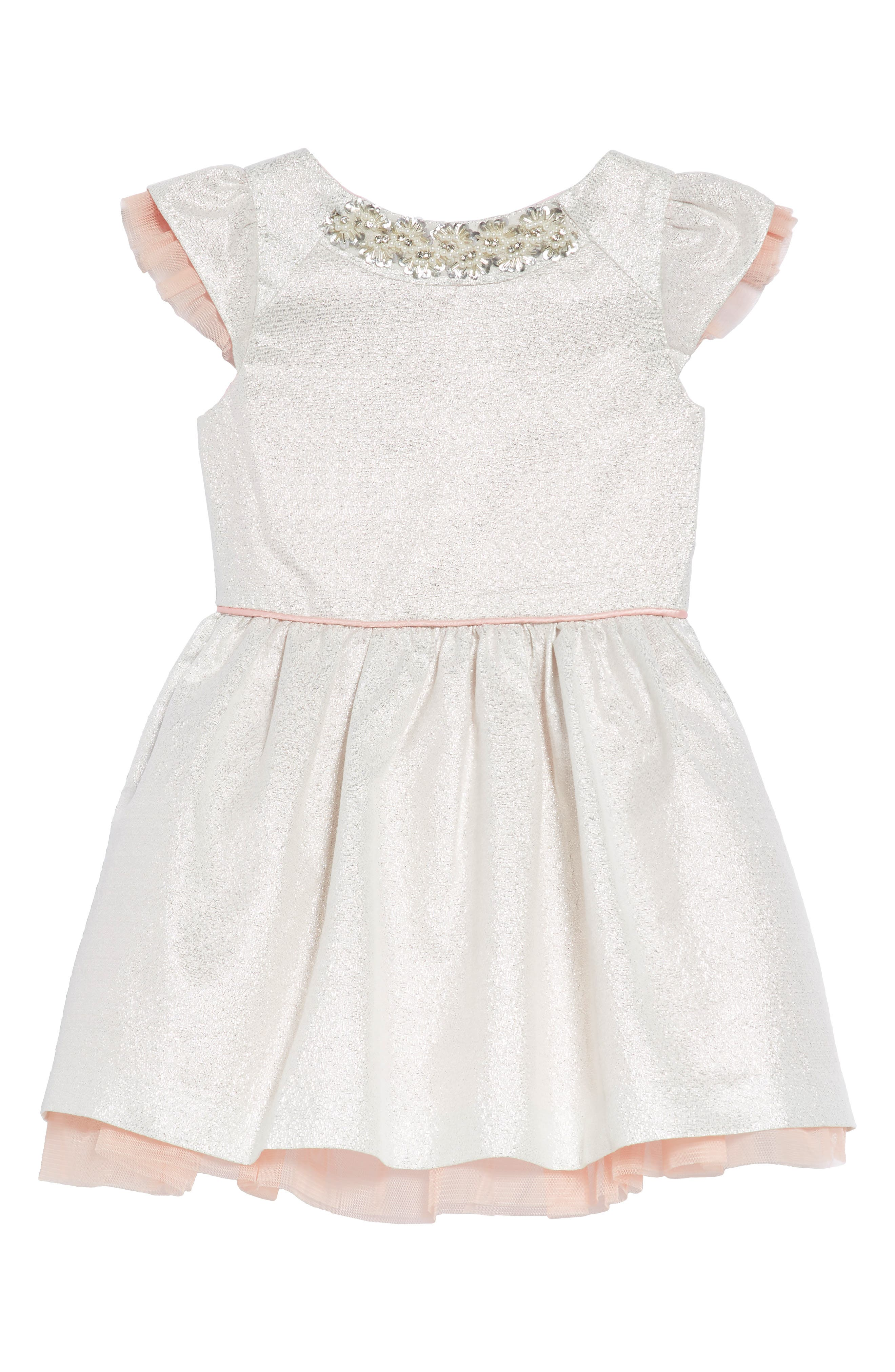 Embellished Fit & Flare Dress,                         Main,                         color, 040