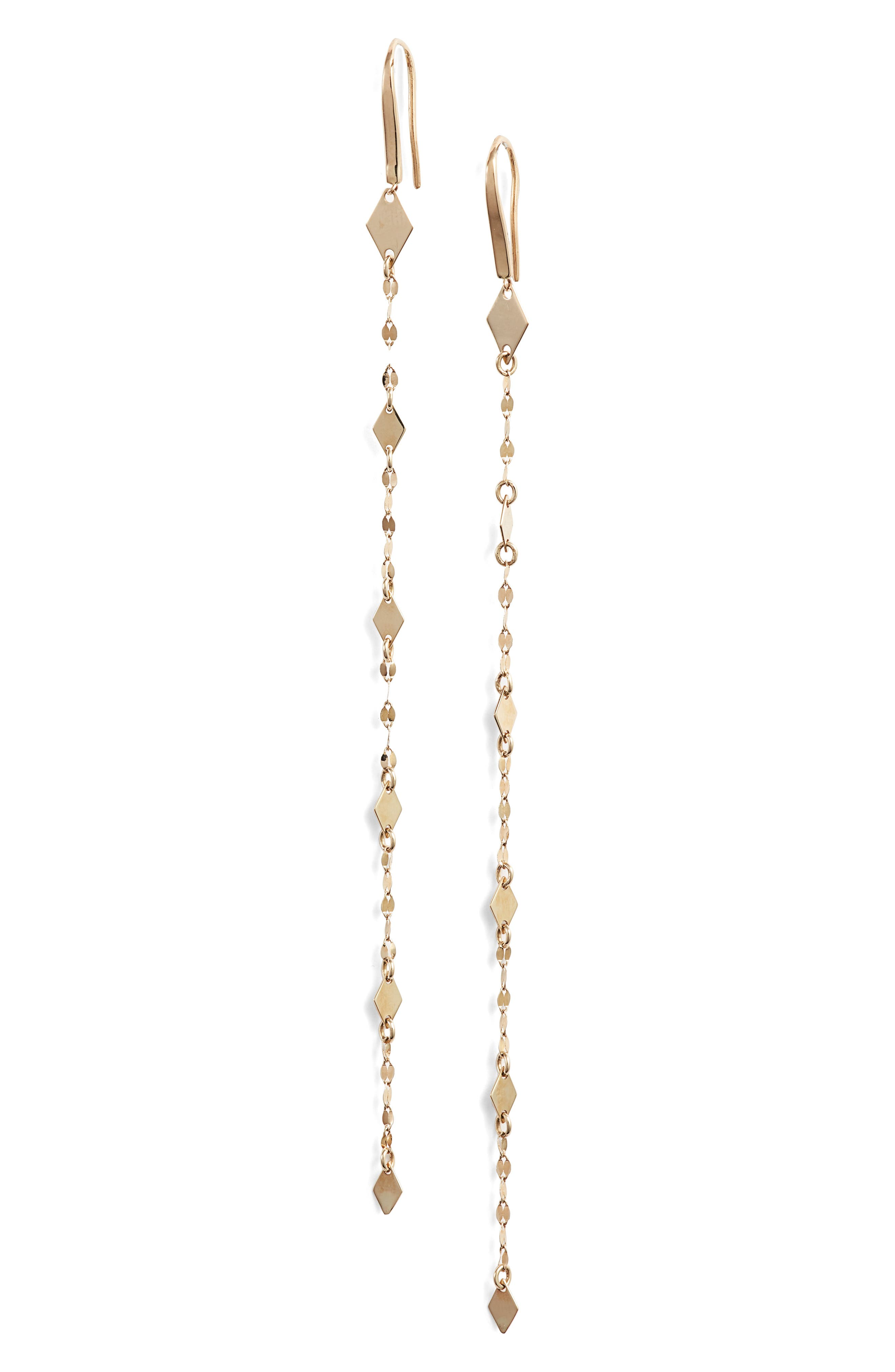 Mismatch Mini Kite Duster Earrings, Main, color, GOLD