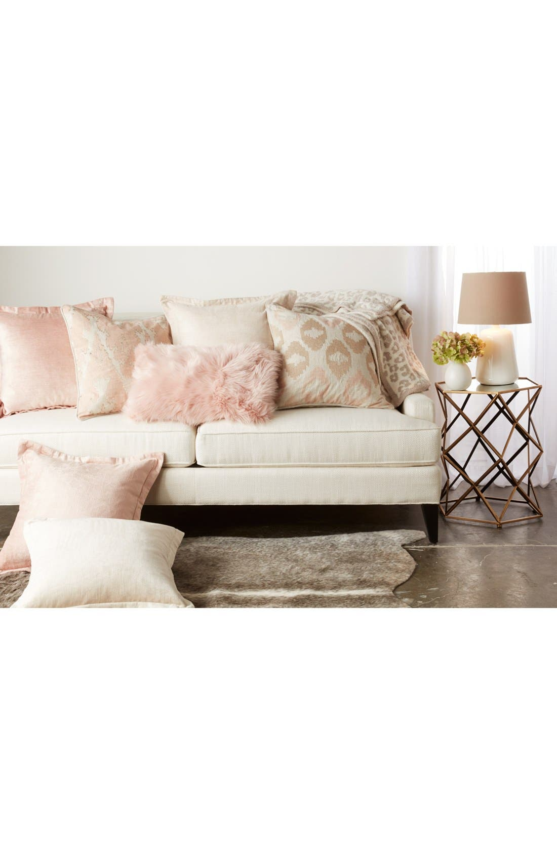 Mira Accent Pillow,                             Alternate thumbnail 2, color,                             BEIGE/ BLUSH
