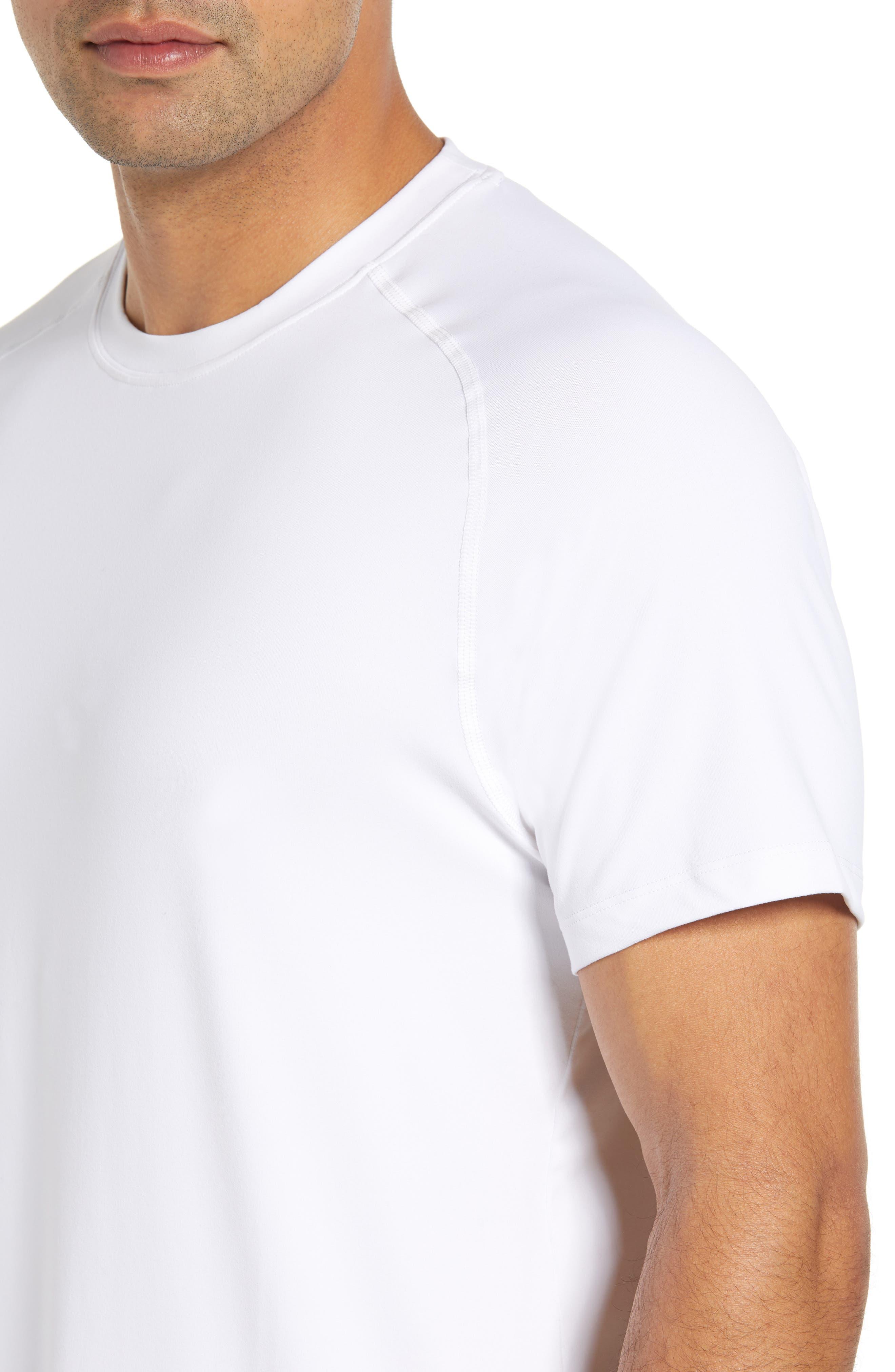 Rio Regular Fit Technical T-Shirt,                             Alternate thumbnail 4, color,                             WHITE