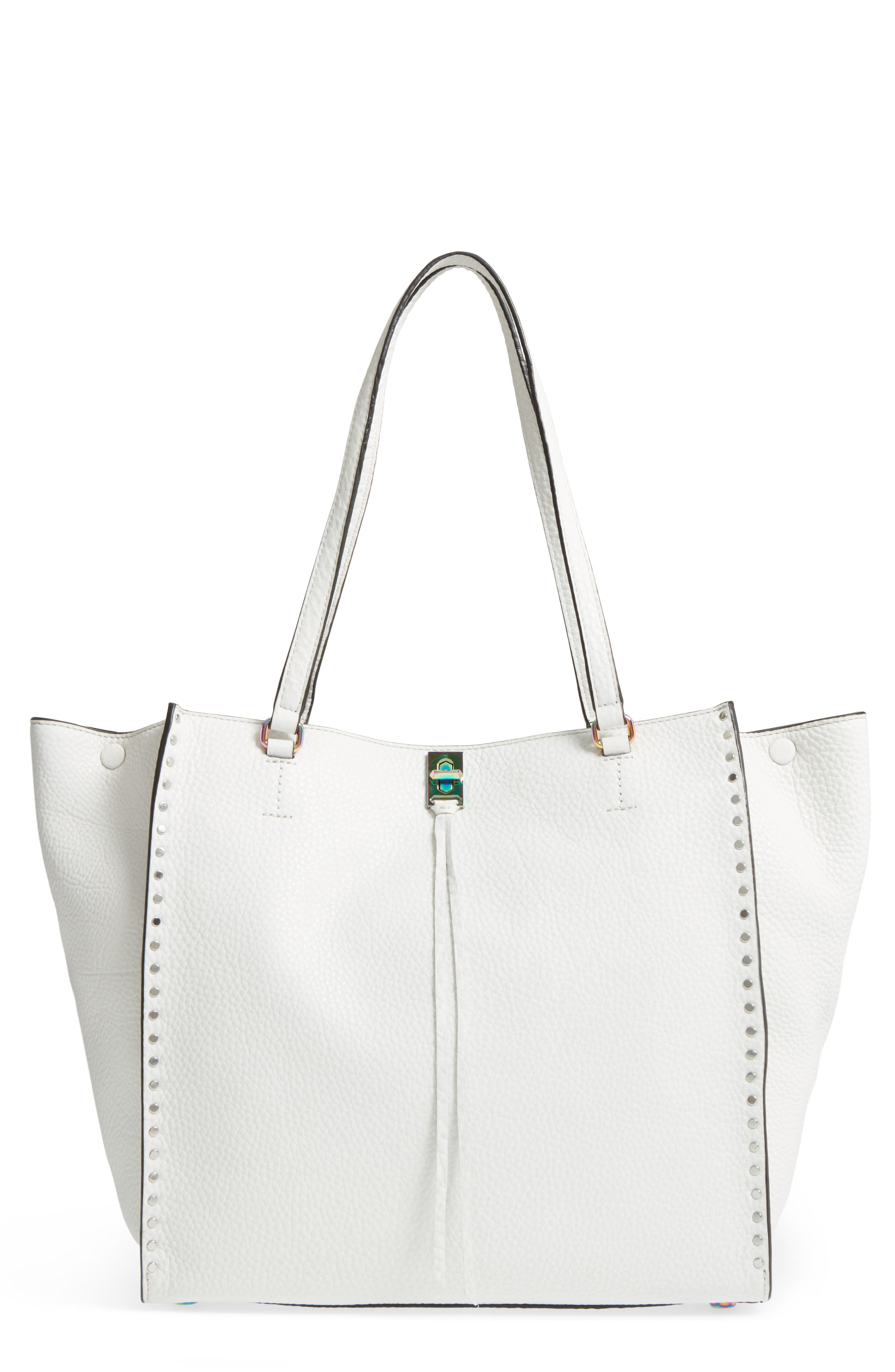 Darren Deerskin Leather Tote,                             Main thumbnail 1, color,                             PUTTY