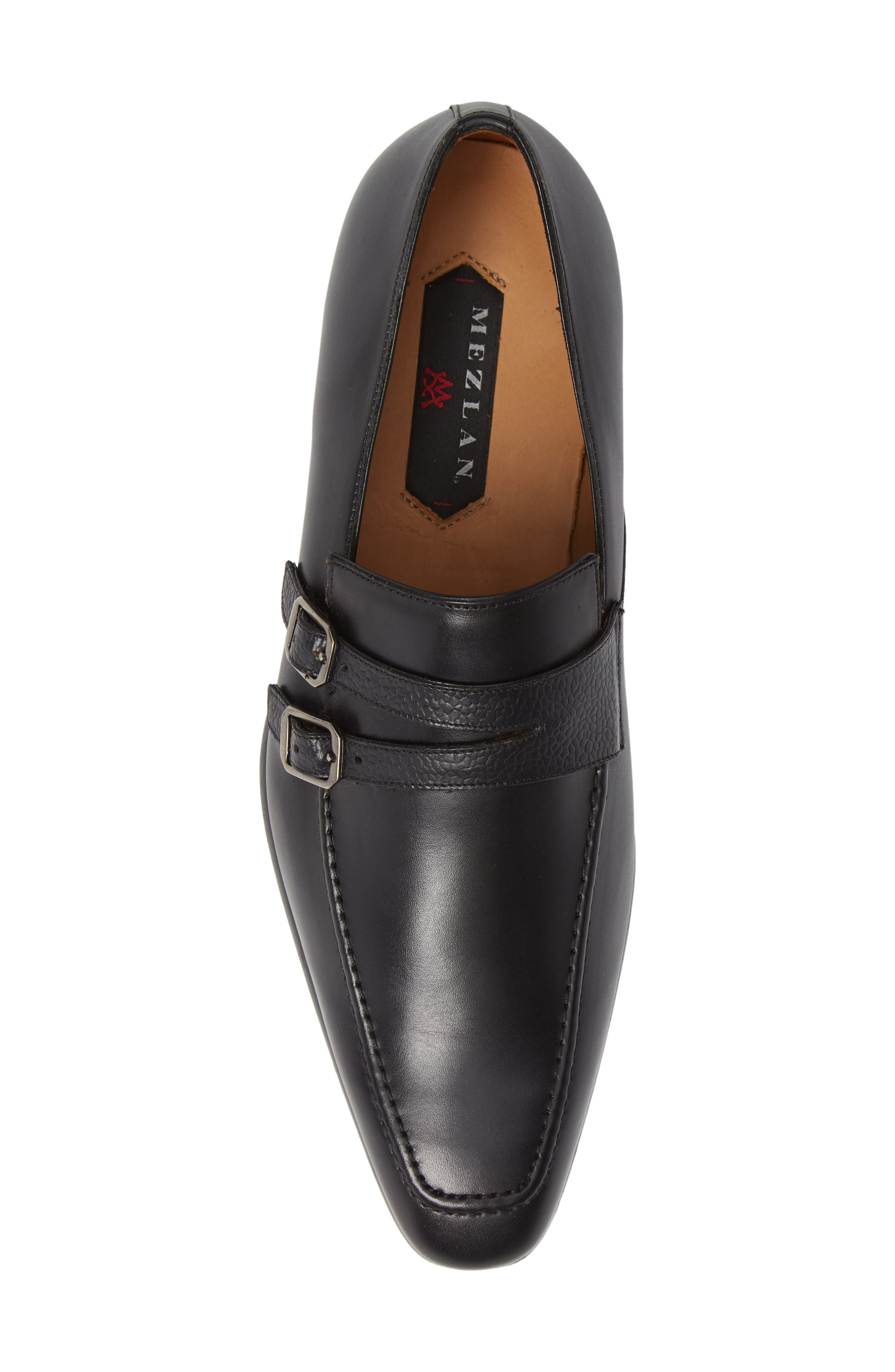 Callas Double Buckle Loafer,                             Alternate thumbnail 5, color,                             BLACK LEATHER