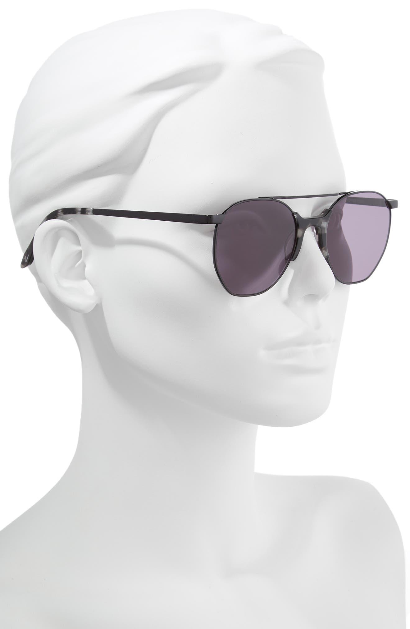 Raine 52mm Aviator Sunglasses,                             Alternate thumbnail 2, color,                             SMOKE TORTOISE/ BLACK