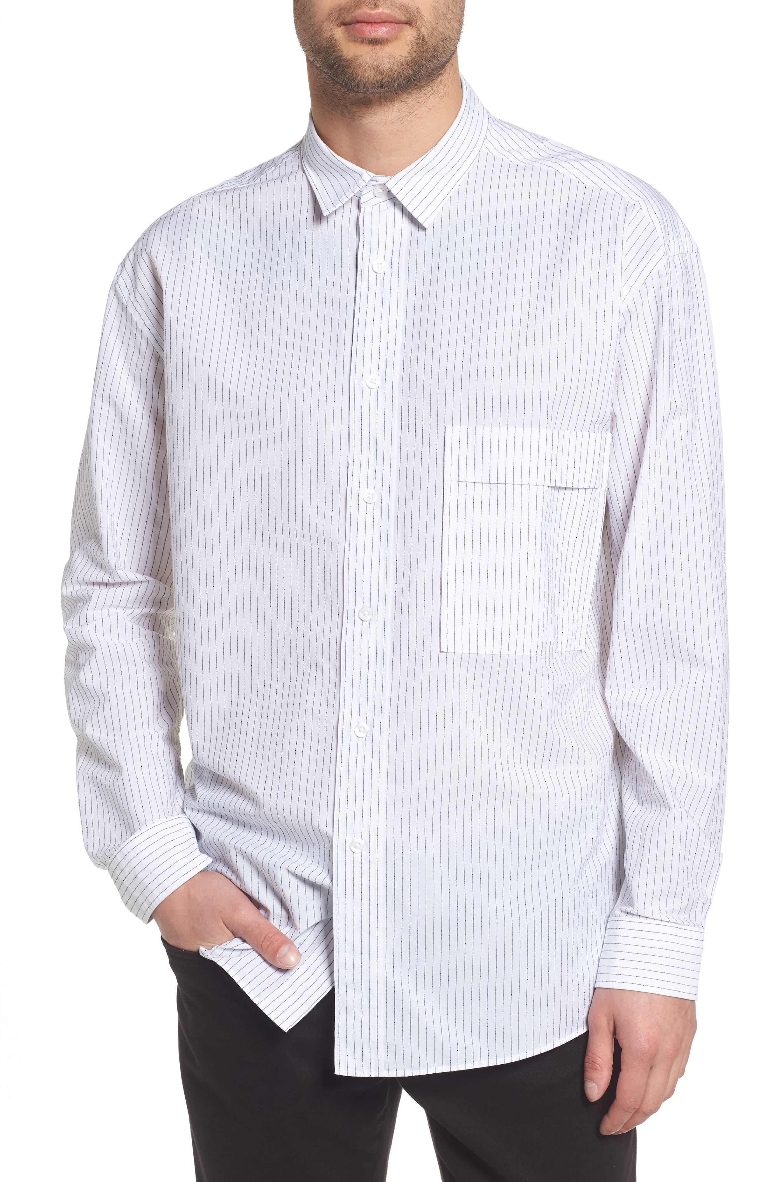 Ery Stripe Classic Fit Sport Shirt,                             Main thumbnail 1, color,                             WHITE