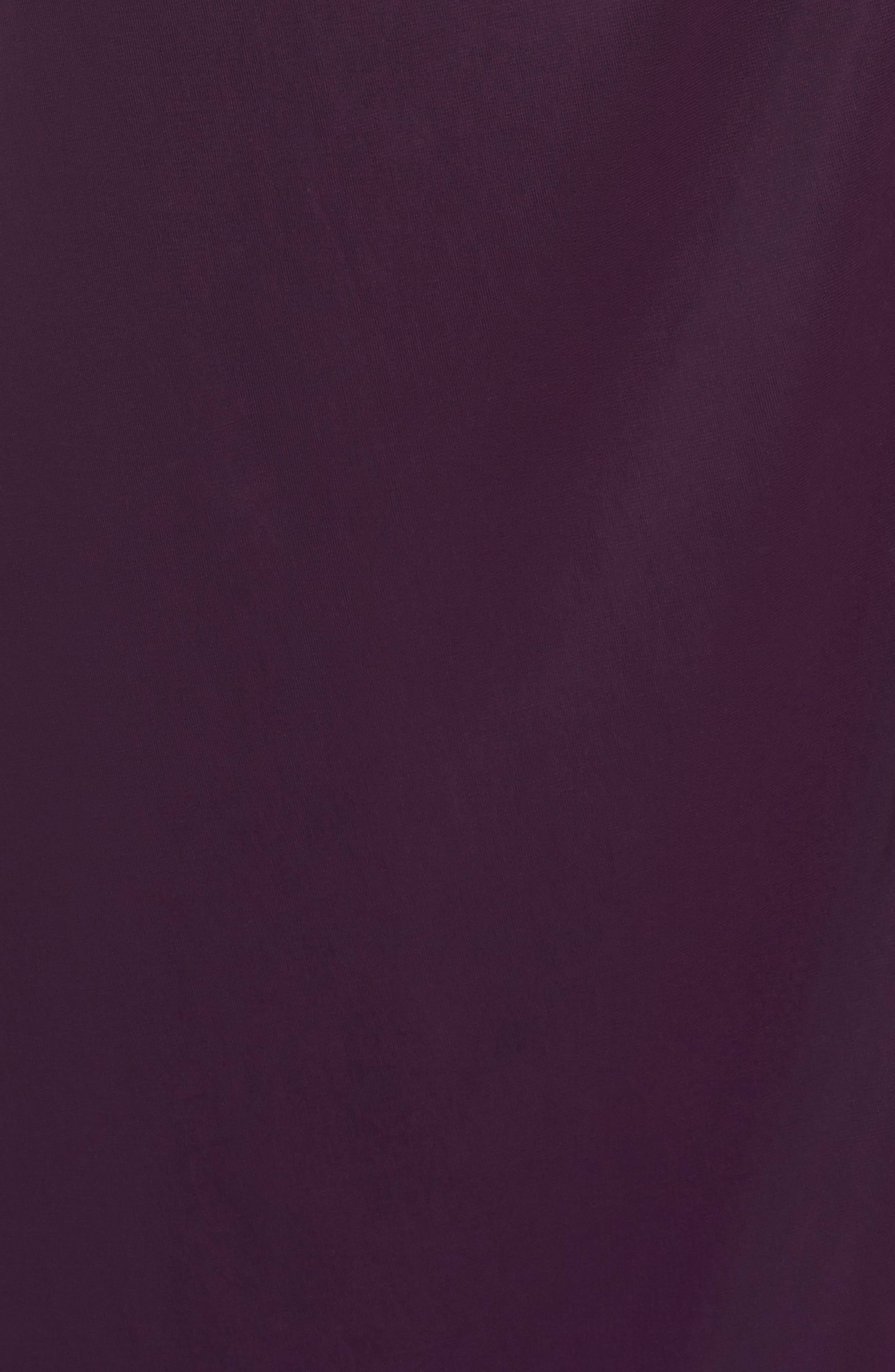 Lace & Matte Jersey Gown,                             Alternate thumbnail 5, color,                             501