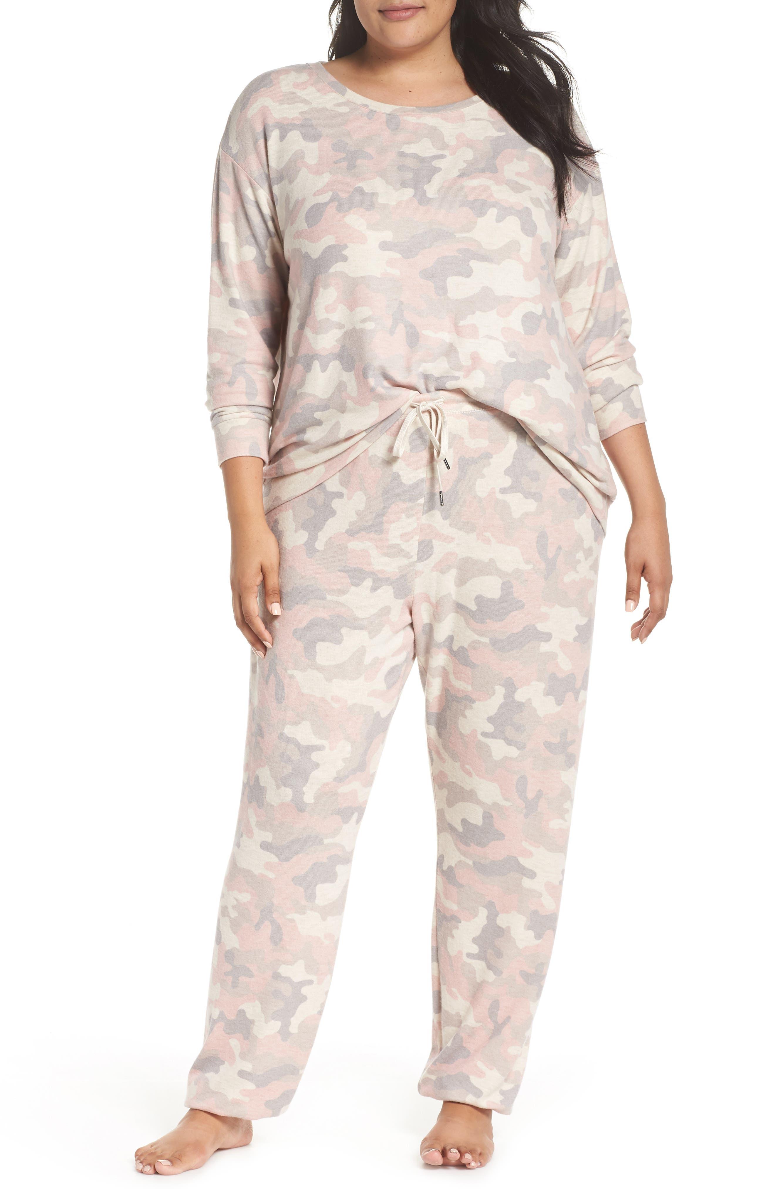 Love is a Battle Camo Pajama Pants,                             Alternate thumbnail 7, color,                             900