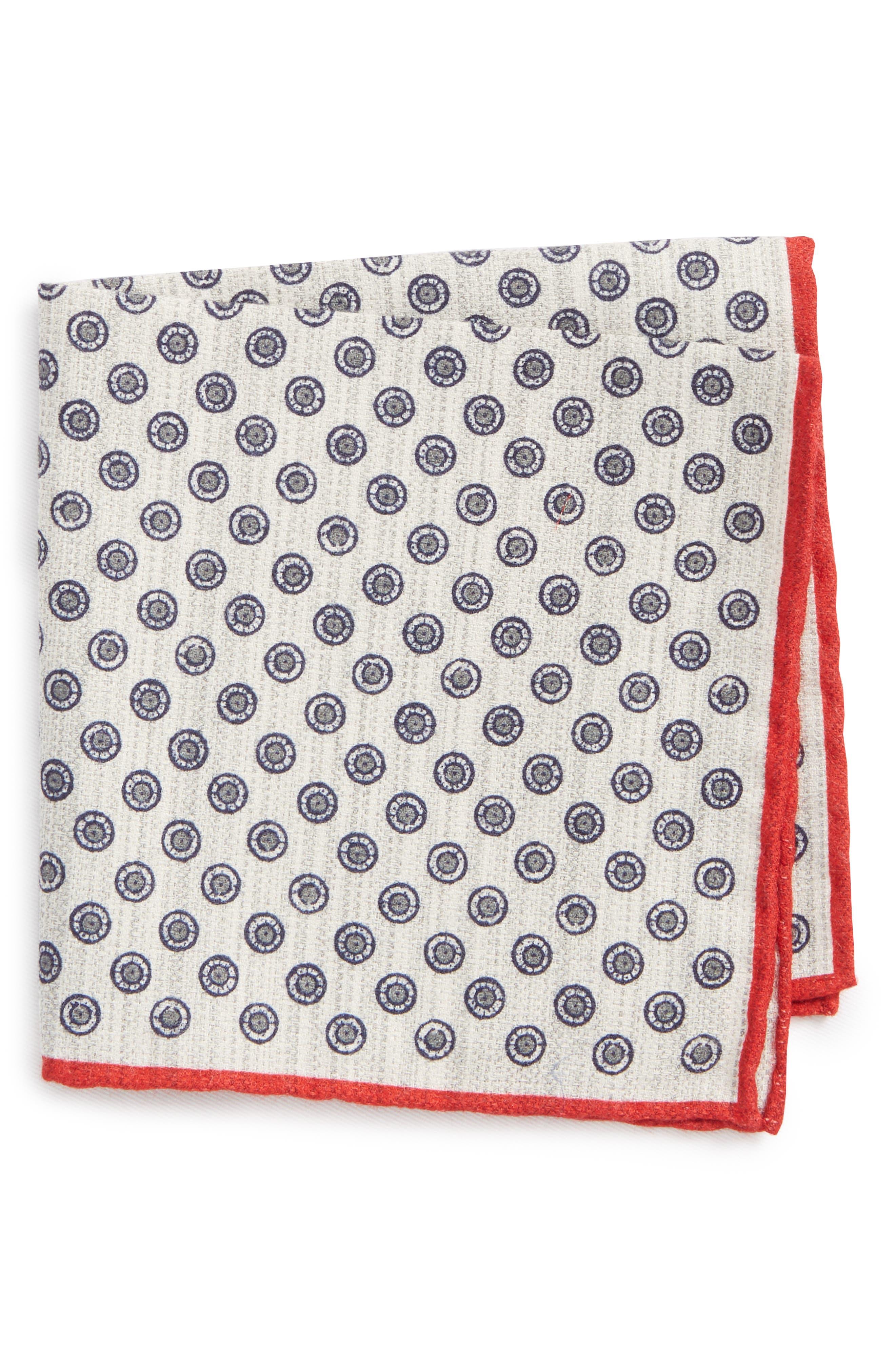 Medallion Pocket Square,                         Main,                         color, 020