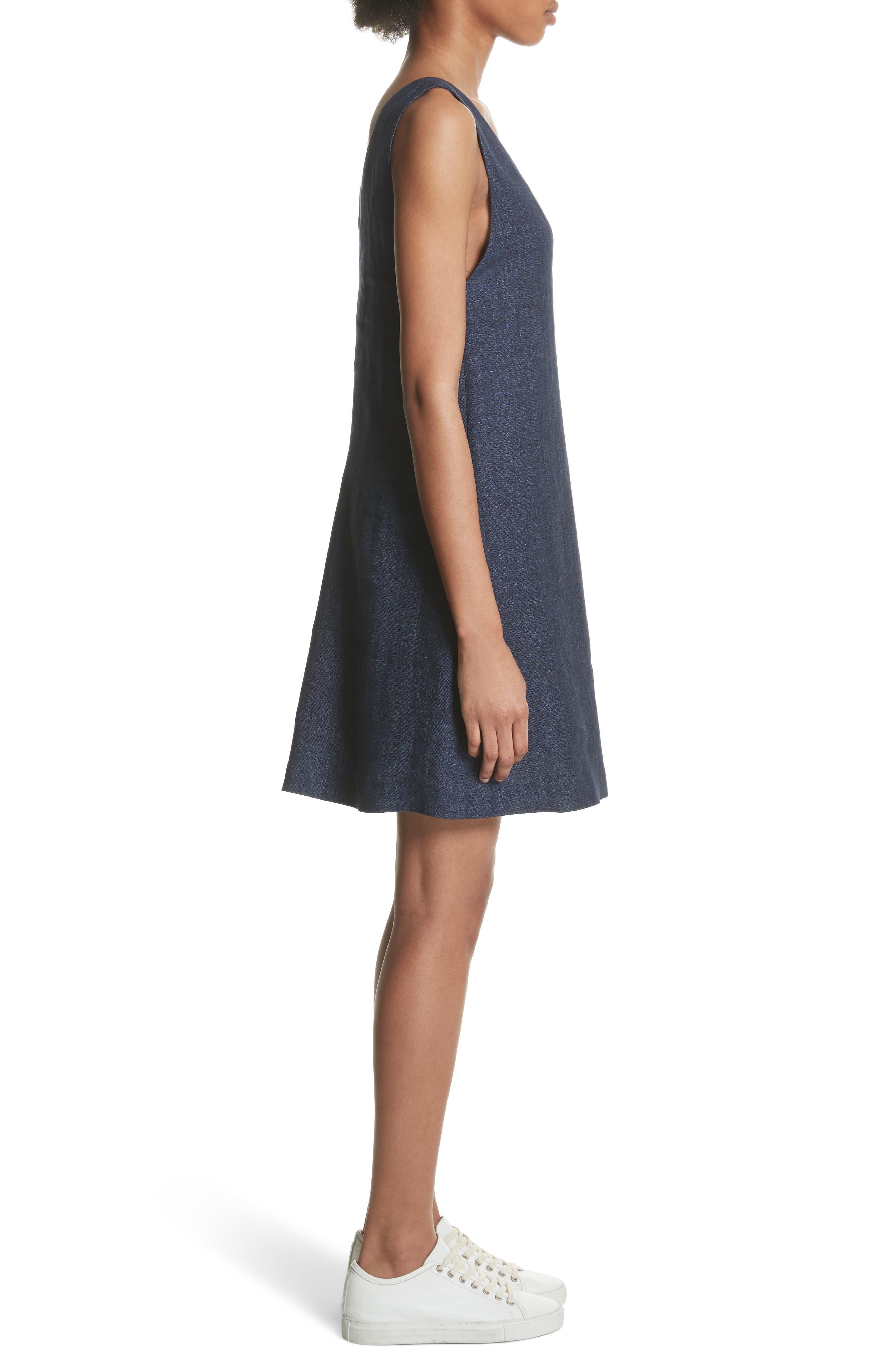 Linen Shift Dress,                             Alternate thumbnail 6, color,