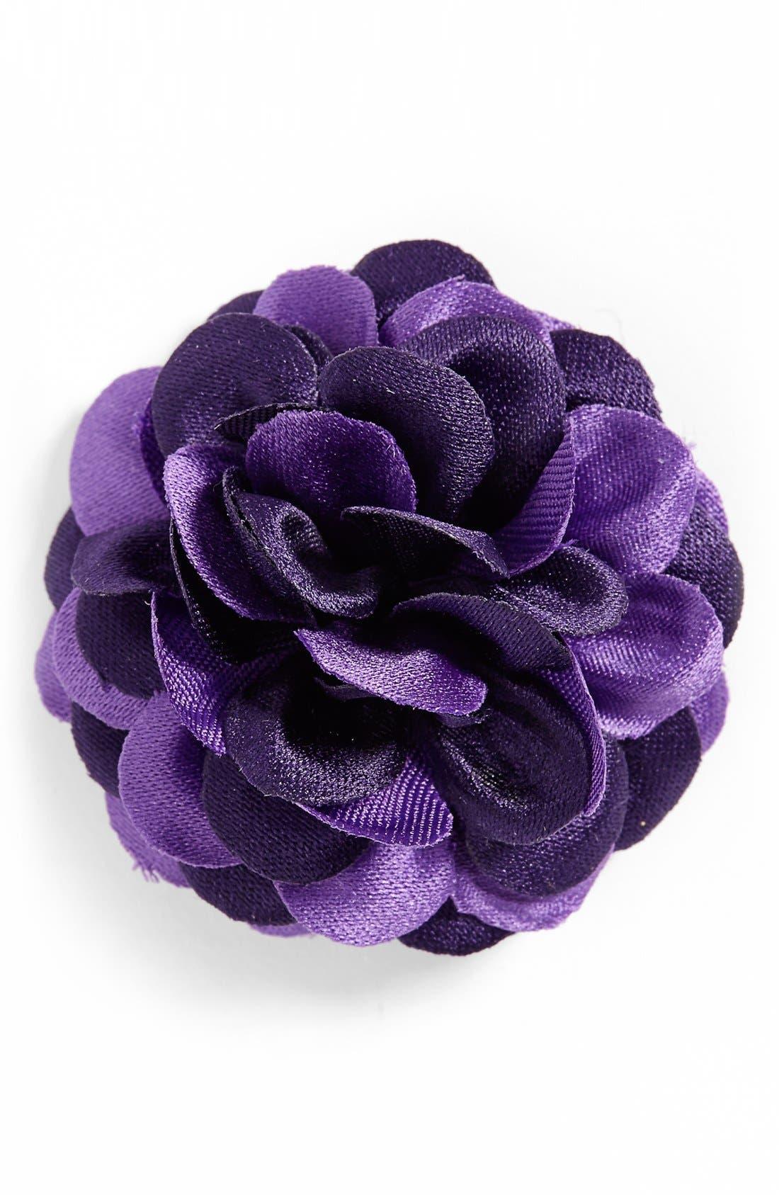 Lapel Flower,                         Main,                         color, PURPLE TONAL