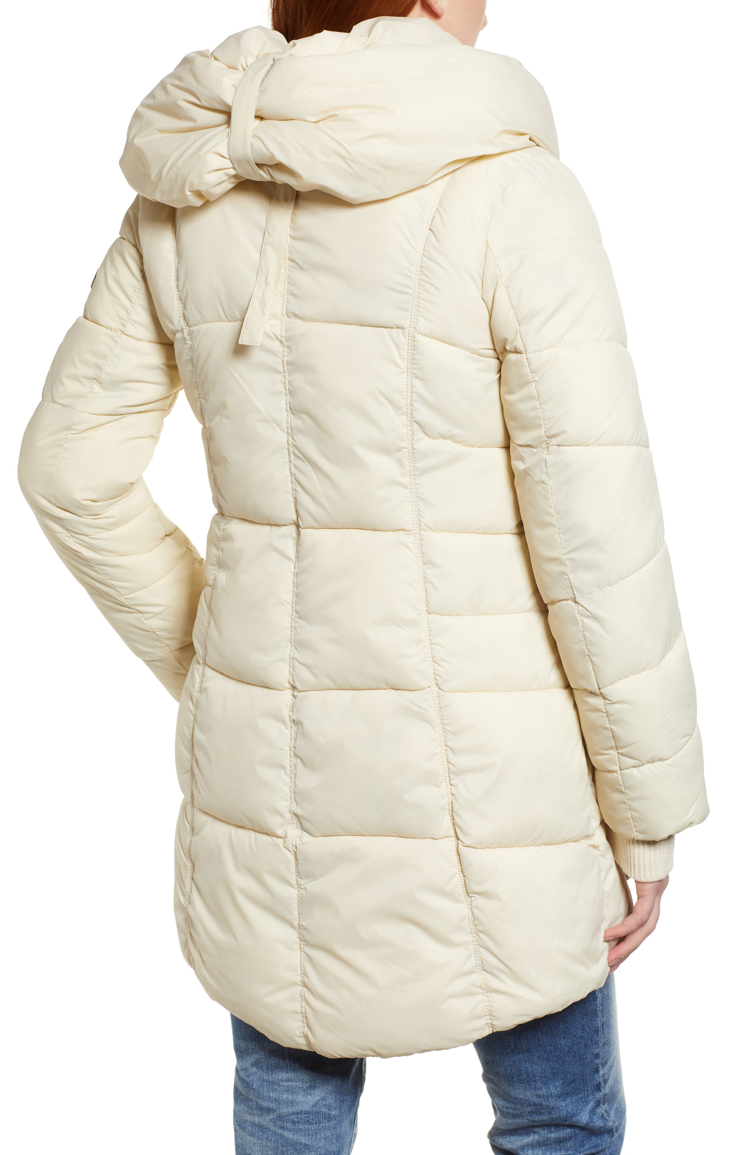 Pillow Collar Puffer Coat,                             Alternate thumbnail 2, color,                             IVORY