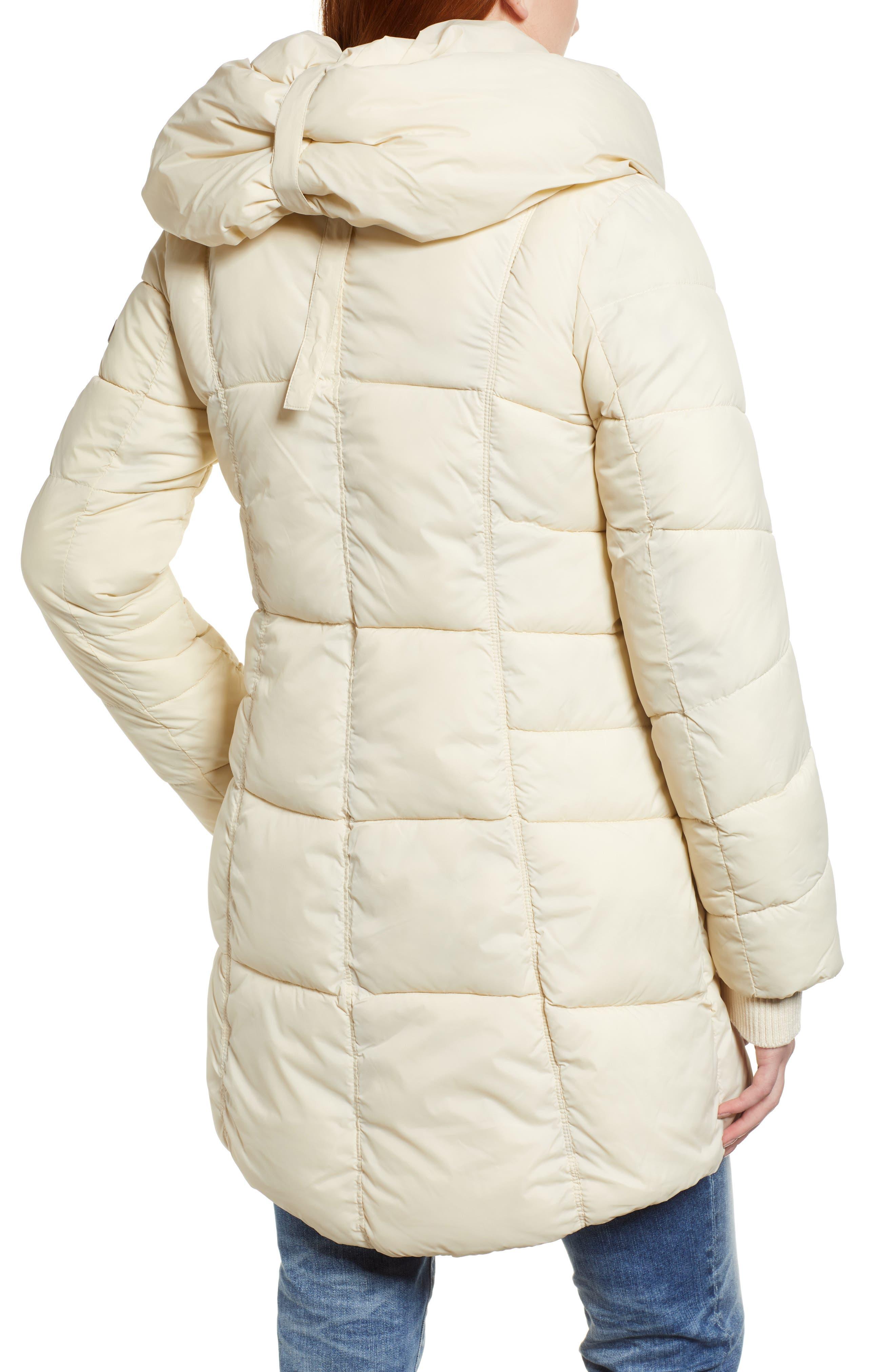 Pillow Collar Puffer Coat,                             Alternate thumbnail 2, color,                             IVORY