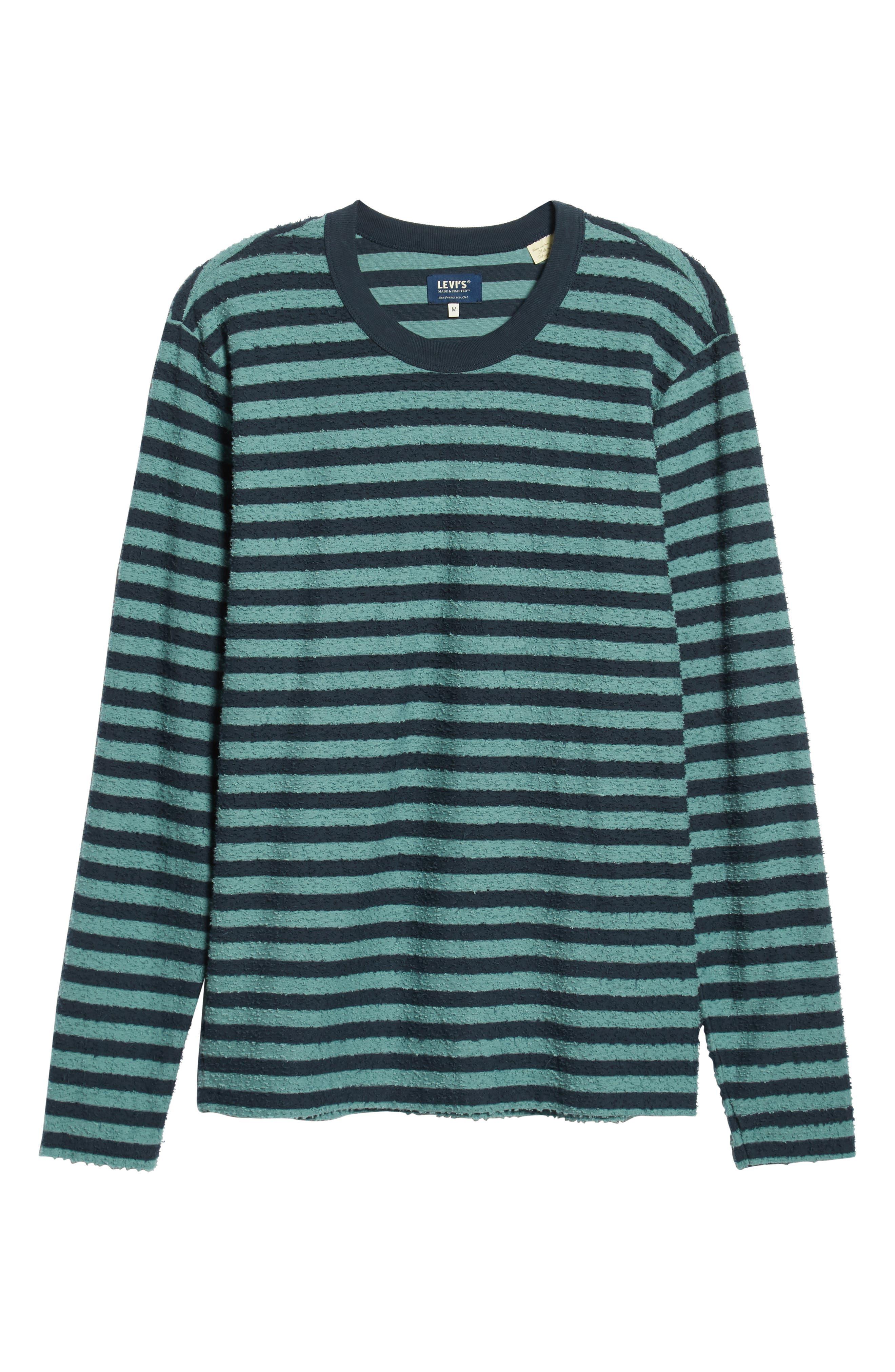 Stripe Slub T-Shirt,                             Alternate thumbnail 6, color,                             ARCTIC TONY