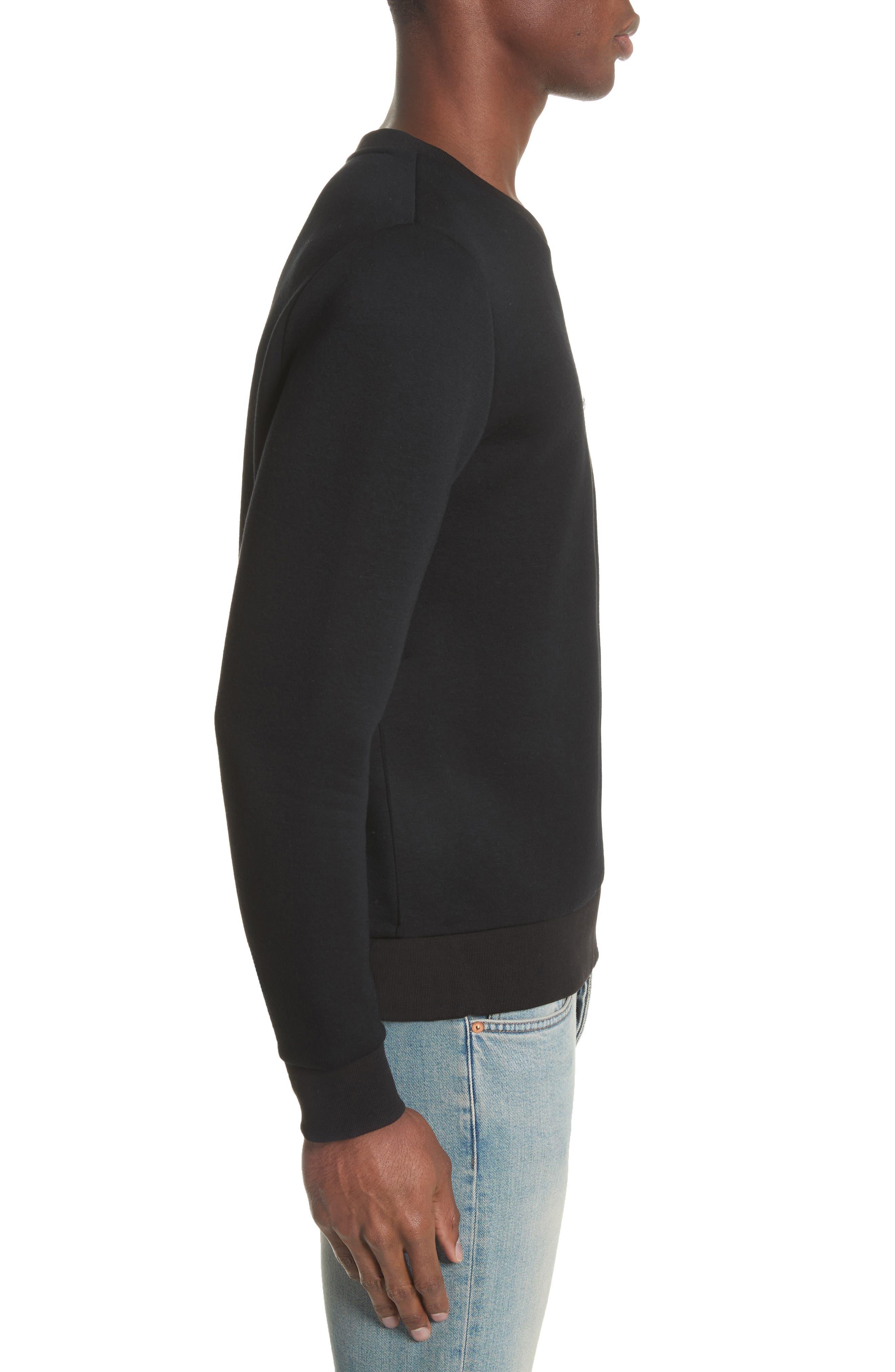 Fleece Sweatshirt,                             Alternate thumbnail 3, color,                             001