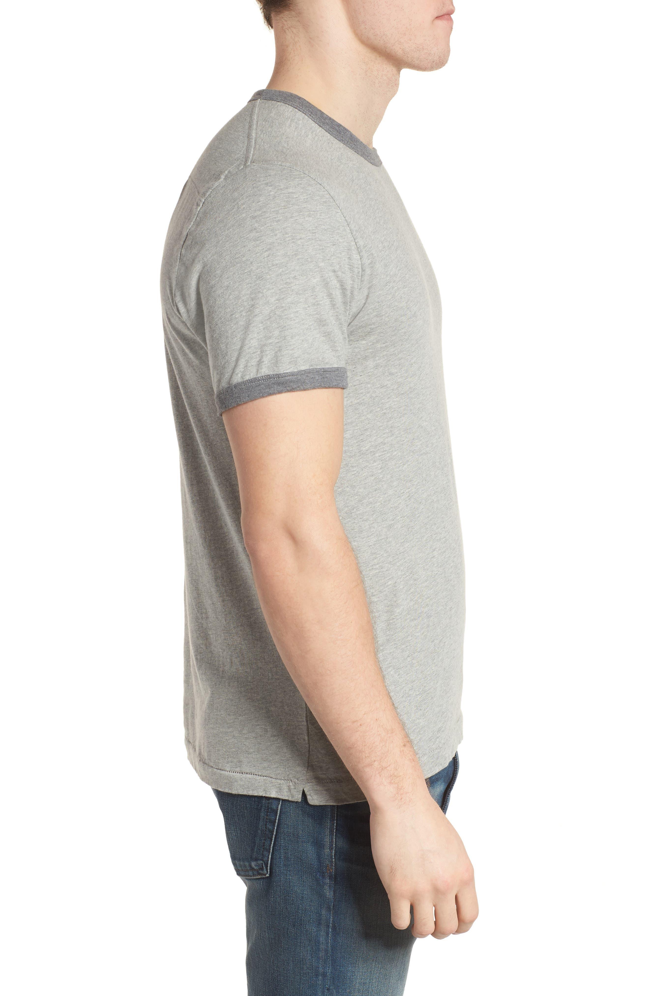 Bens Slim Fit Ringer T-Shirt,                             Alternate thumbnail 3, color,                             032